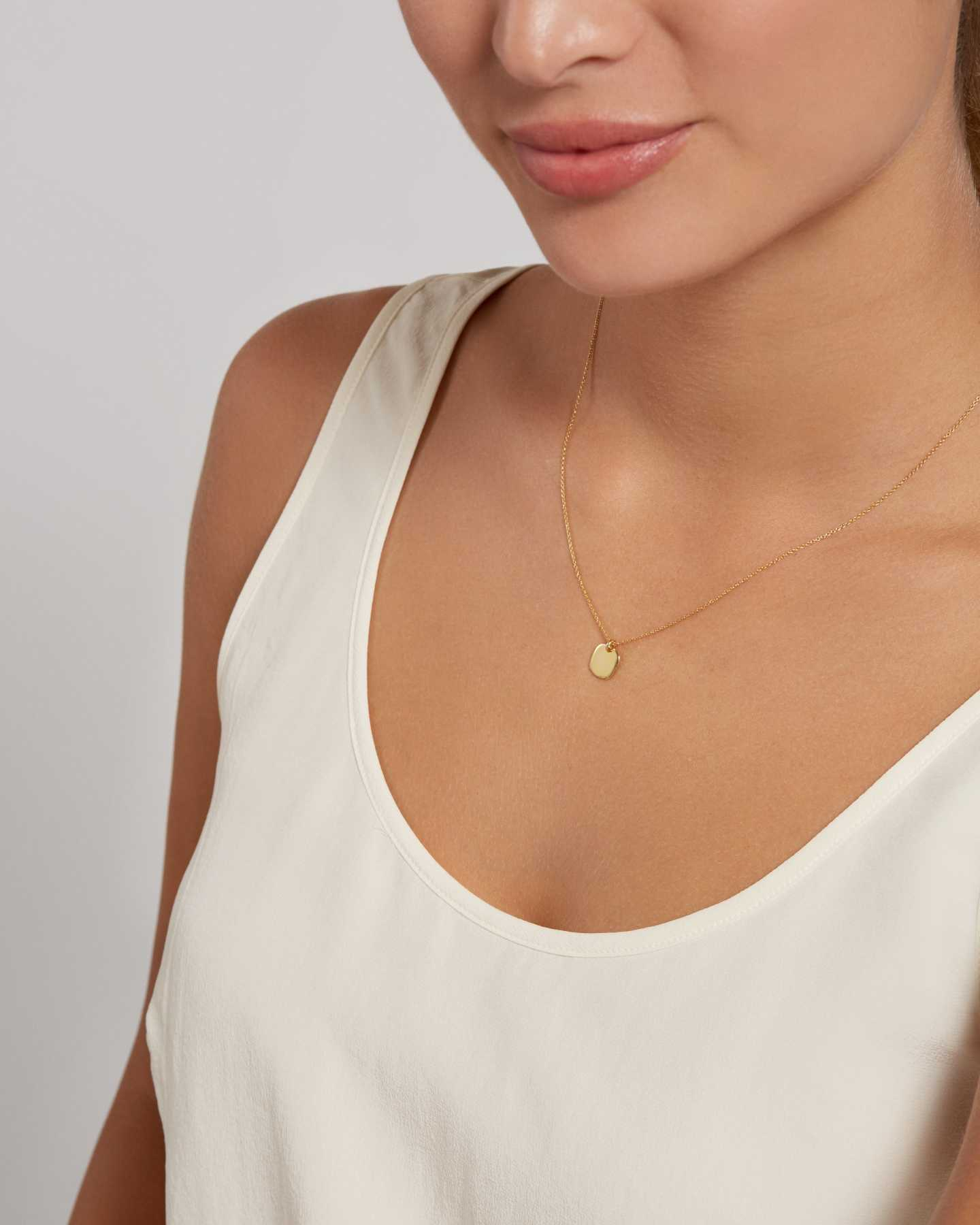 Gold Disc Necklace - Gold Vermeil - 2
