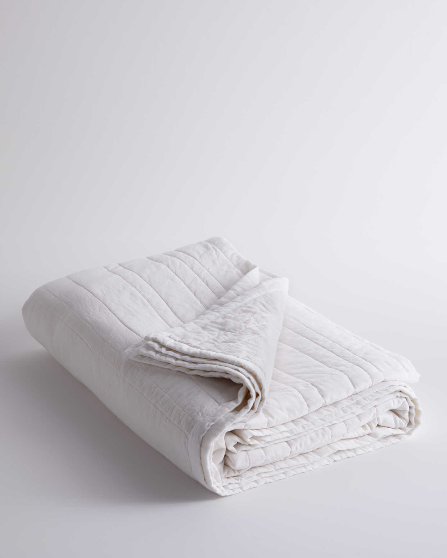 100% Organic Cotton Quilt  - White