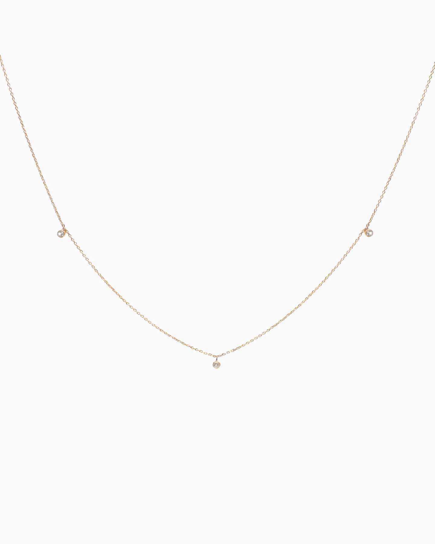 White Sapphire Choker Necklace - Gold Vermeil