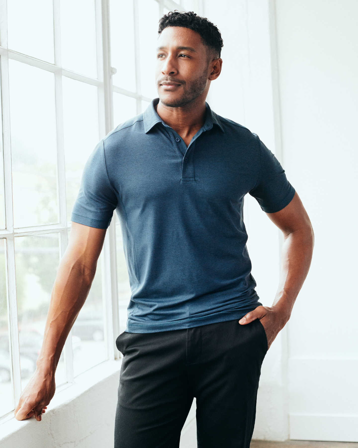 Flowknit Ultra-Soft Performance Polo - Navy