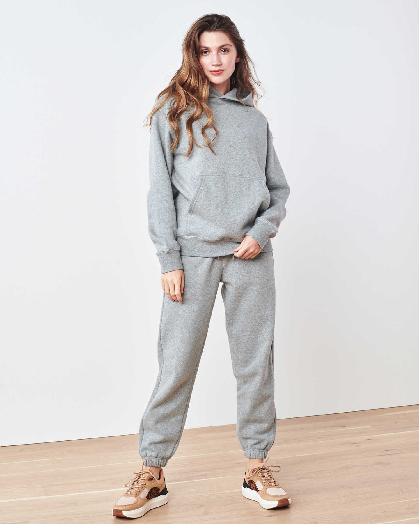 Organic Heavyweight Boyfriend Hoodie - Heather Grey - 1