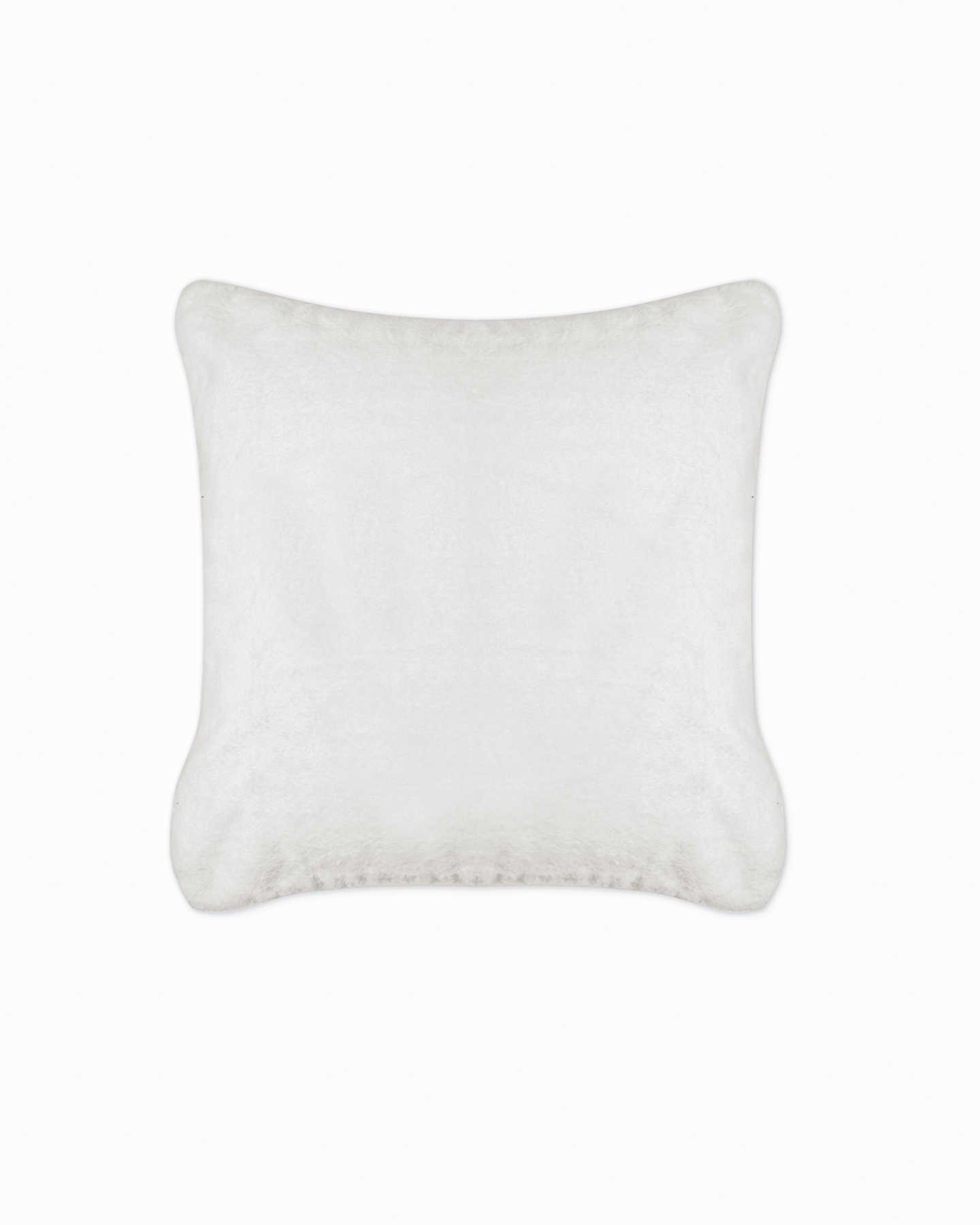 Plush Recycled Faux Fur Throw & Pillow Cover Set - Ivory - 2