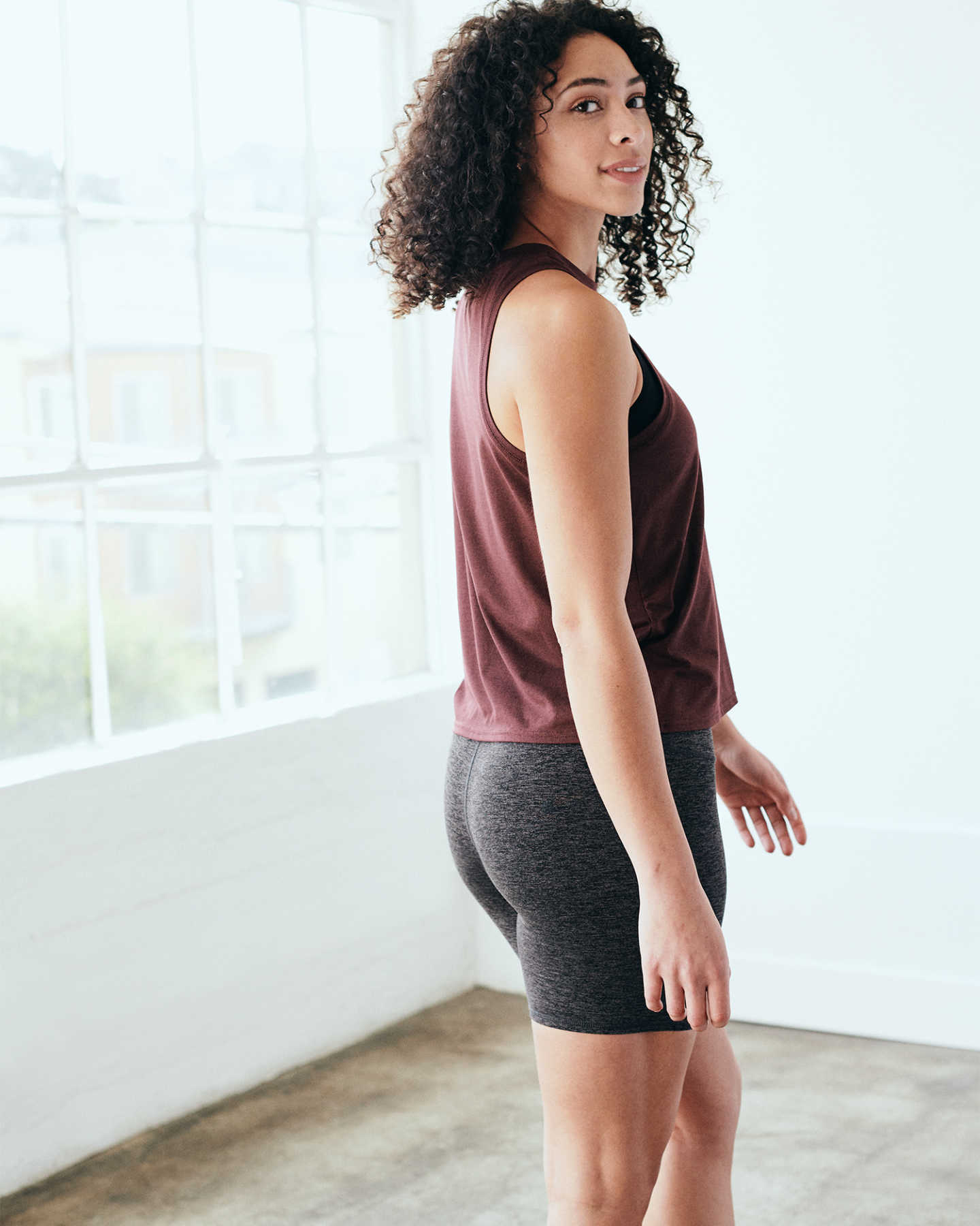 Flowknit Ultra-Soft Performance Tank - Burgundy - 5 - Thumbnail
