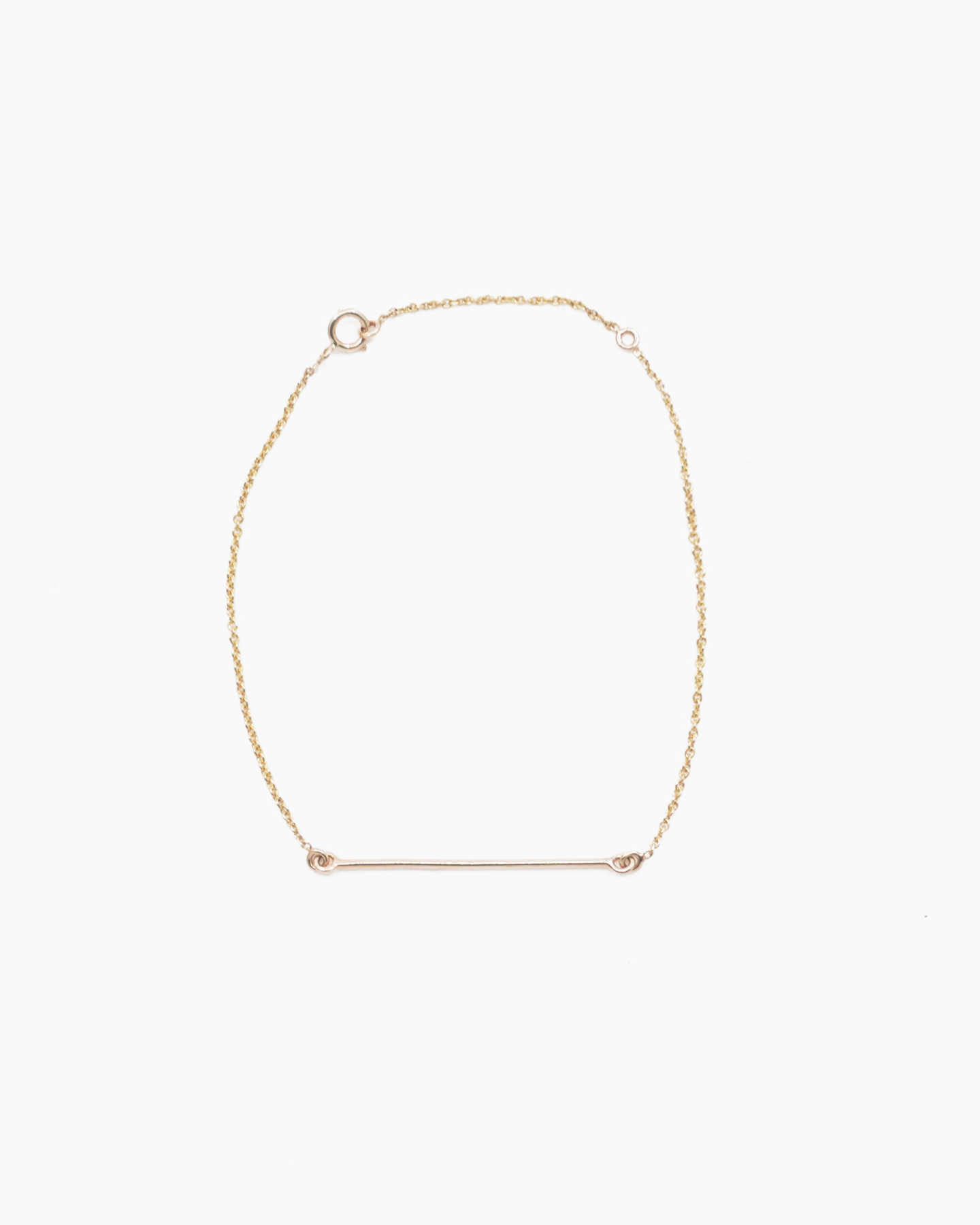 Gold Lariat Bracelet - Yellow Gold