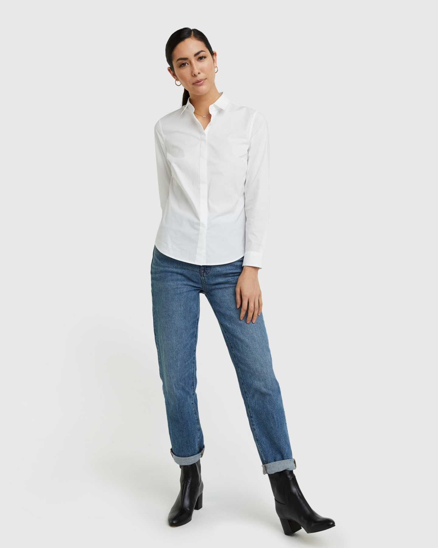 Organic Cotton Stretch Poplin Shirt - 13587171803247