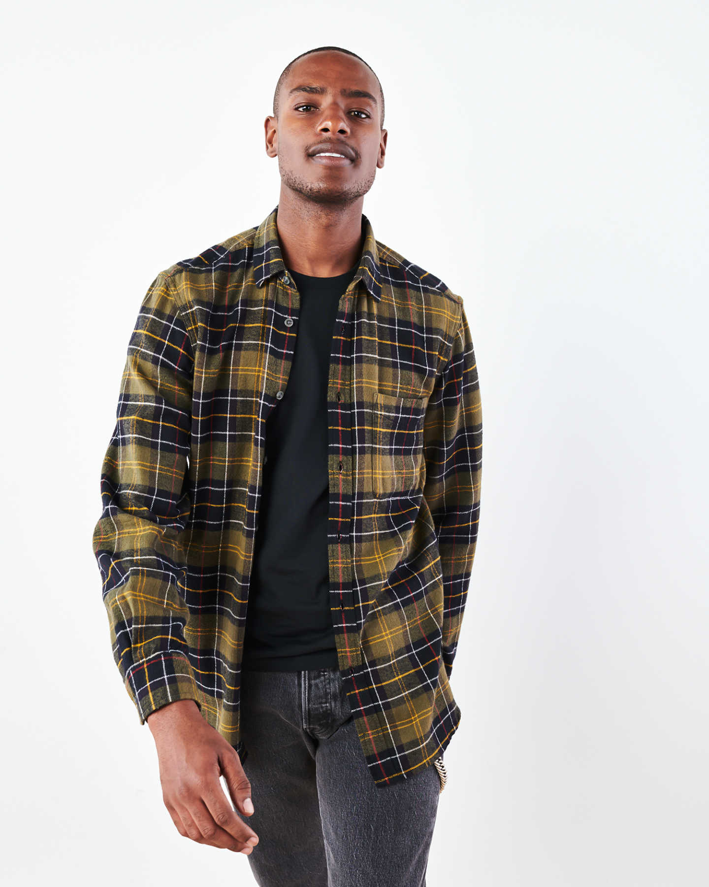 Soft Brushed Plaid Flannel Shirt - undefined - 7