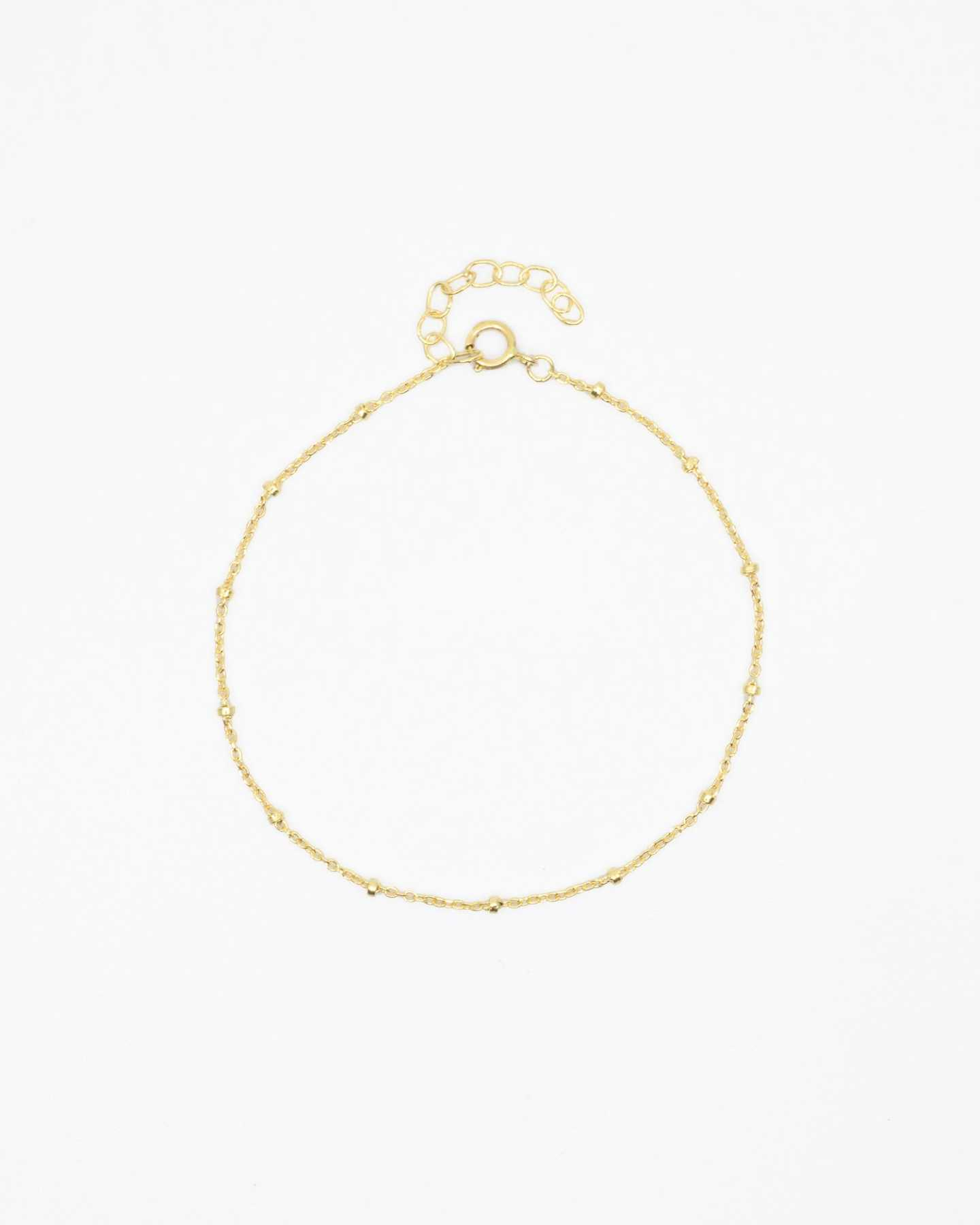 14k Gold Beaded Bracelet - Yellow Gold