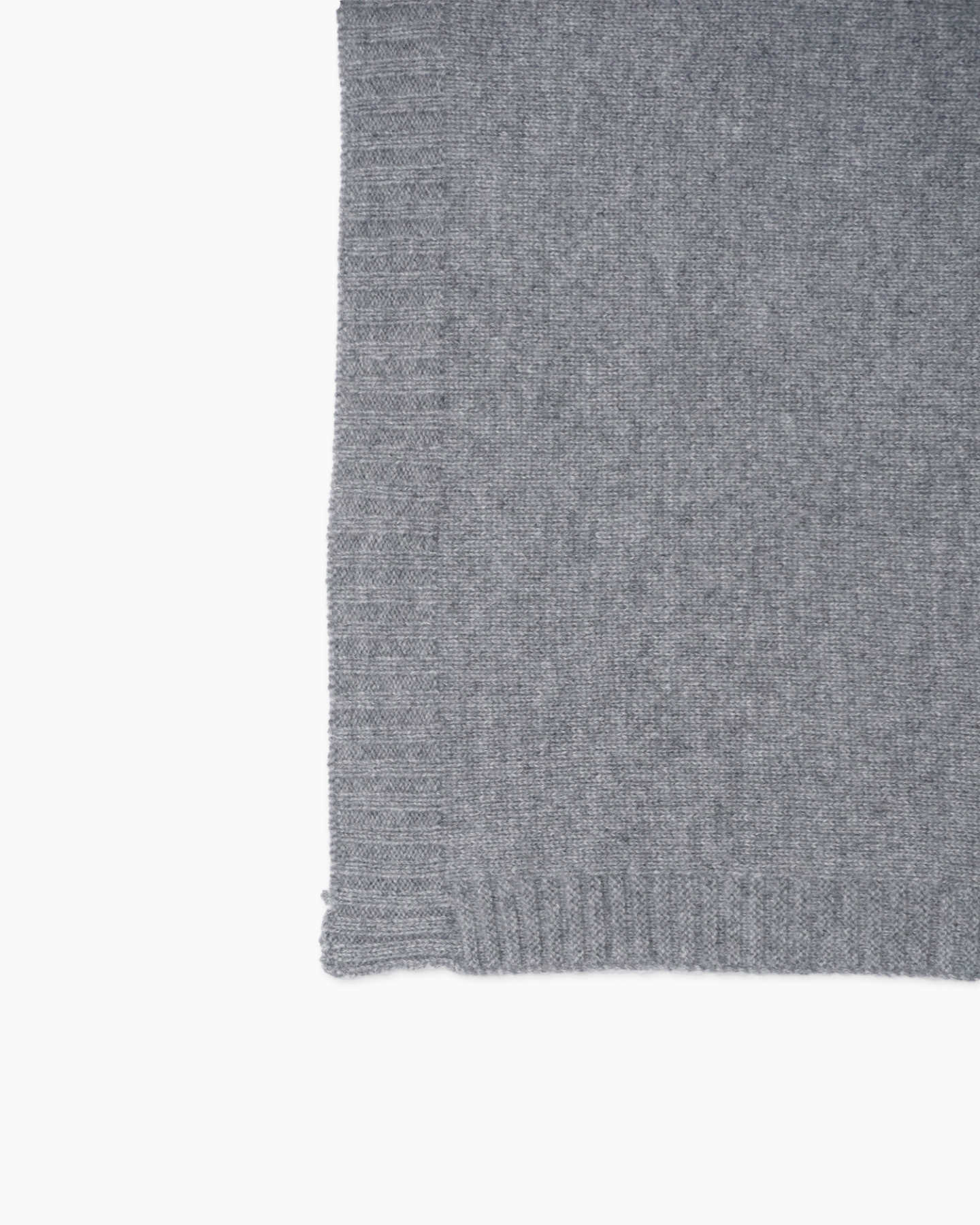 grey cashmere baby blanket from side