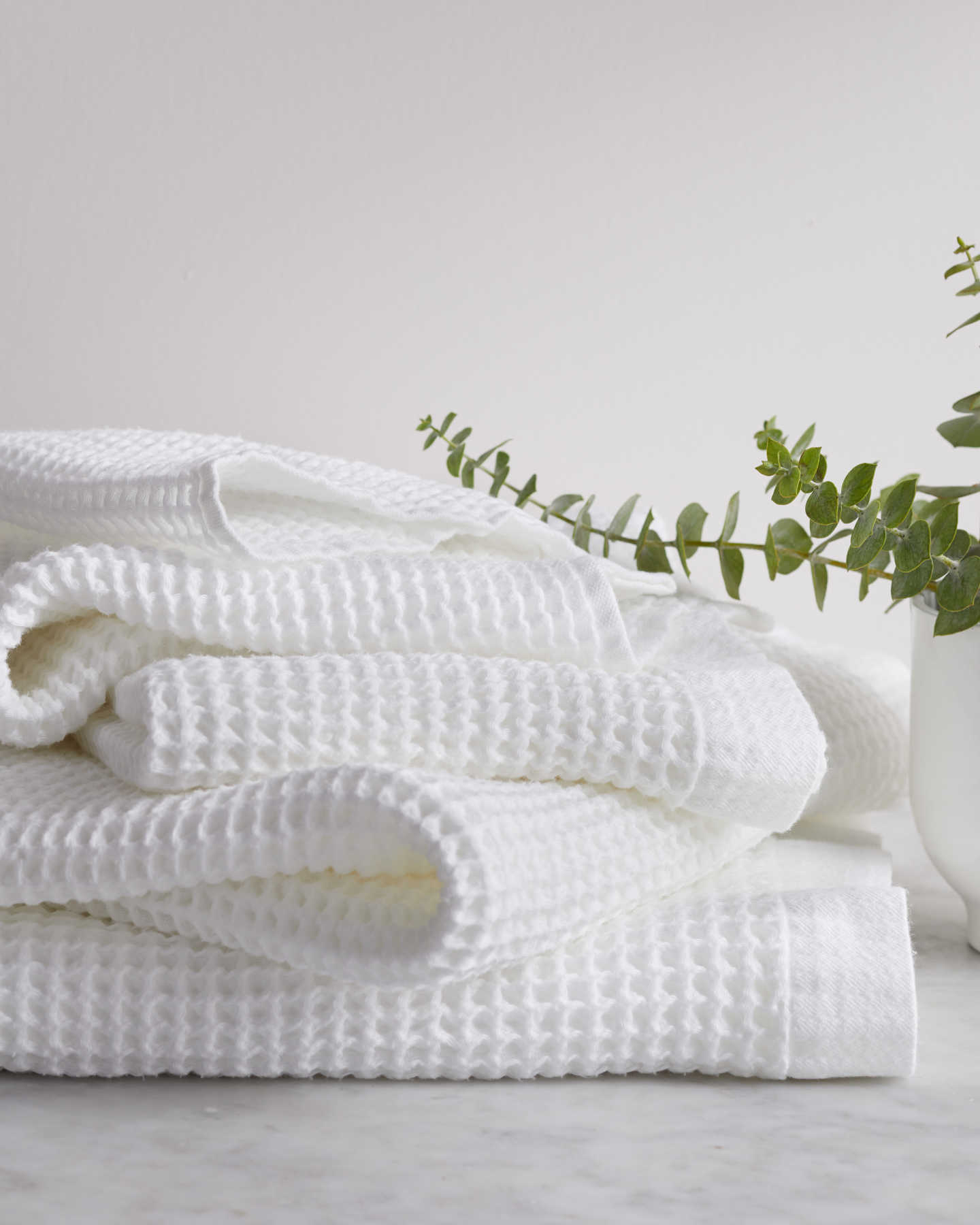 Organic Turkish Waffle Towel Bundle - White - 1