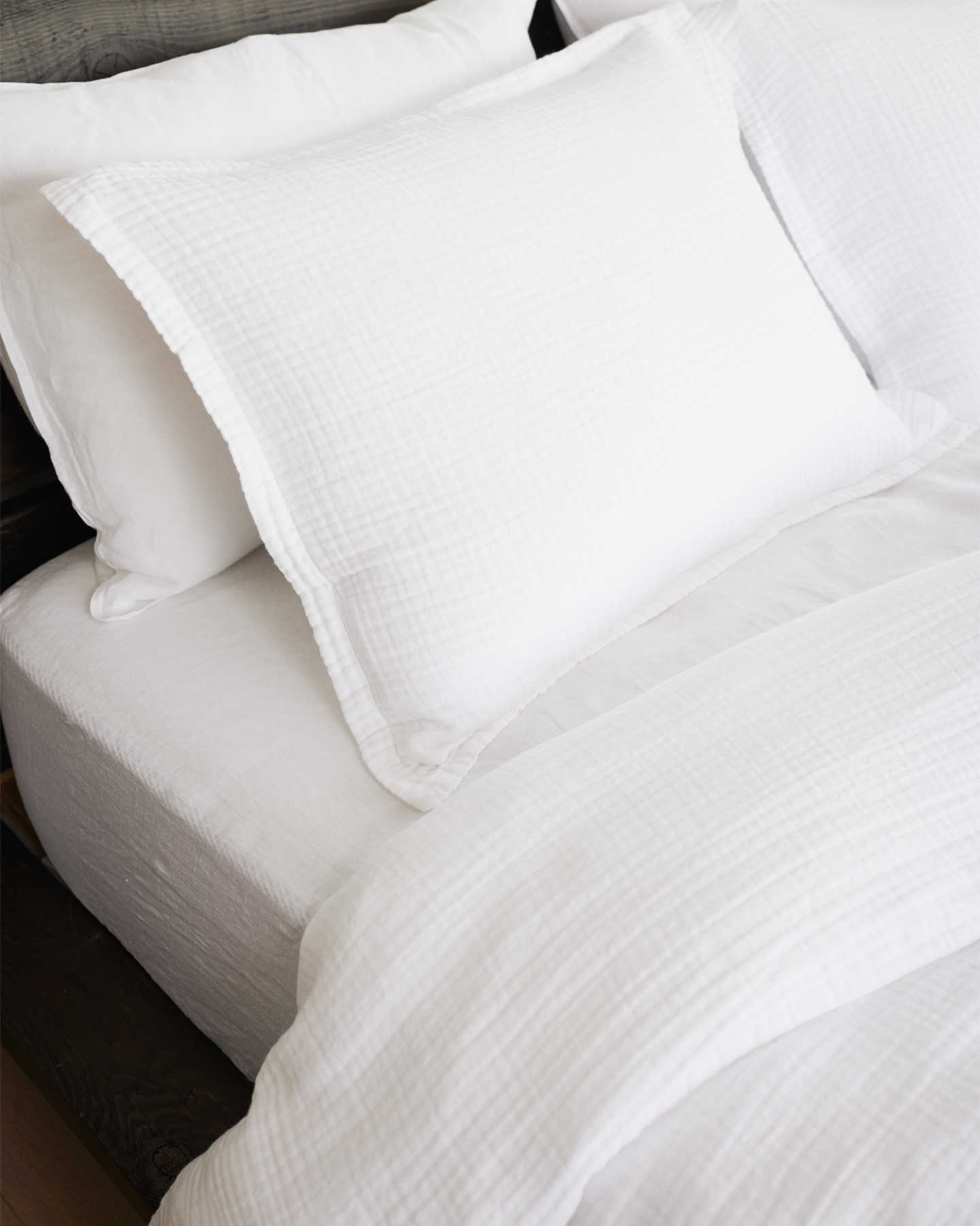 Organic Cotton Gauze Duvet Cover Set - White
