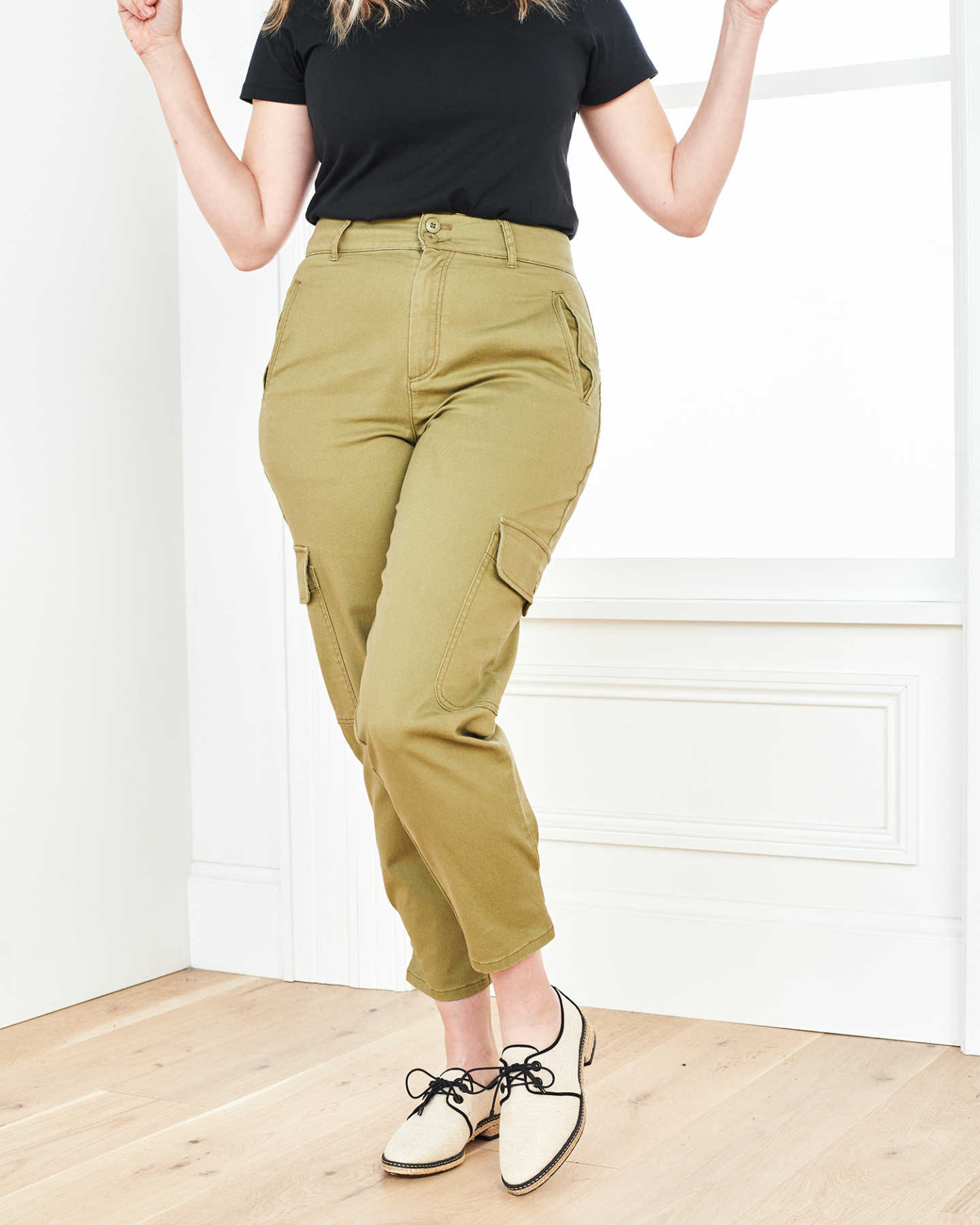Stretch Cotton Twill Cargo Pant - Olive - 6
