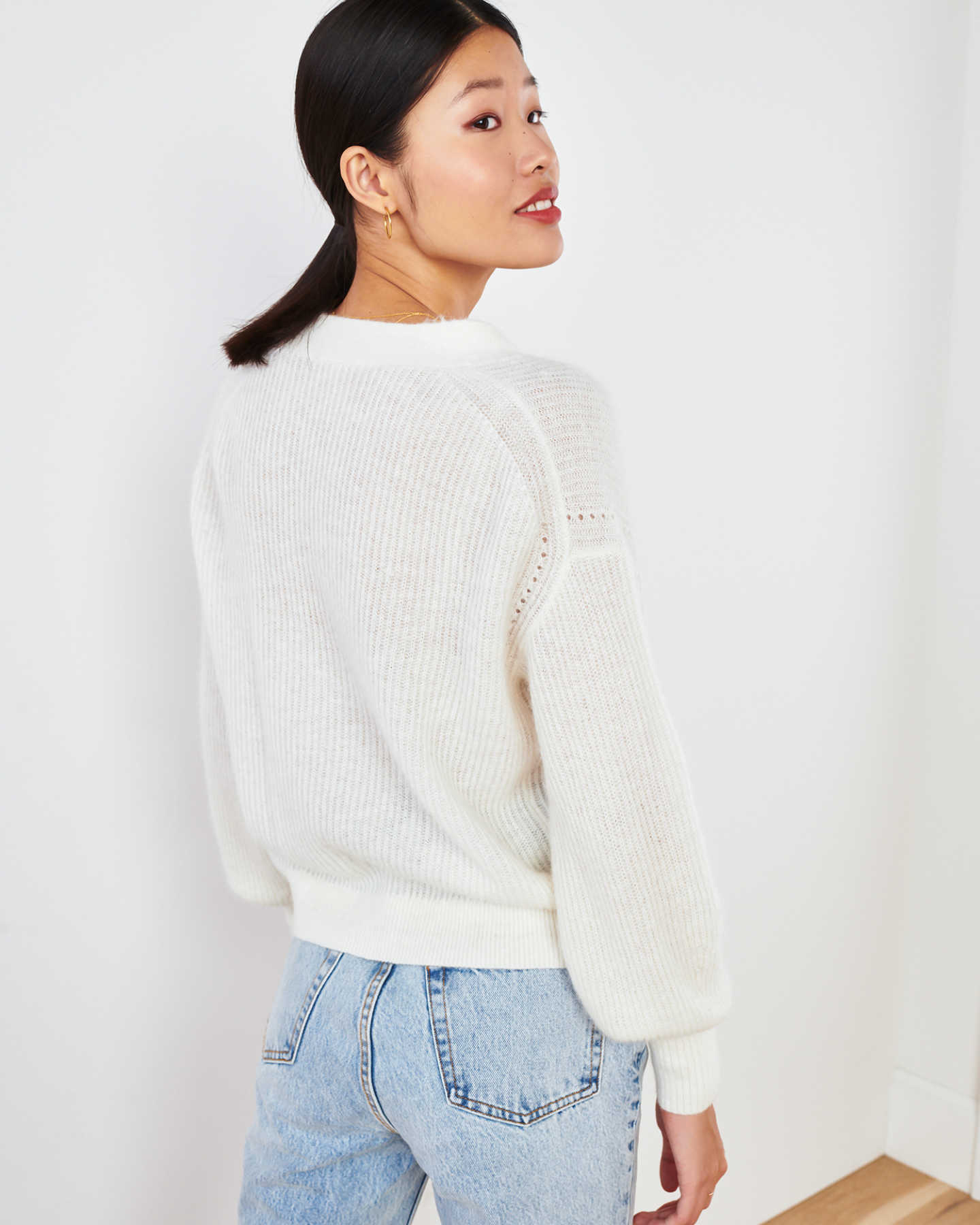 Superfine Alpaca Cropped Cardigan  - undefined - 6