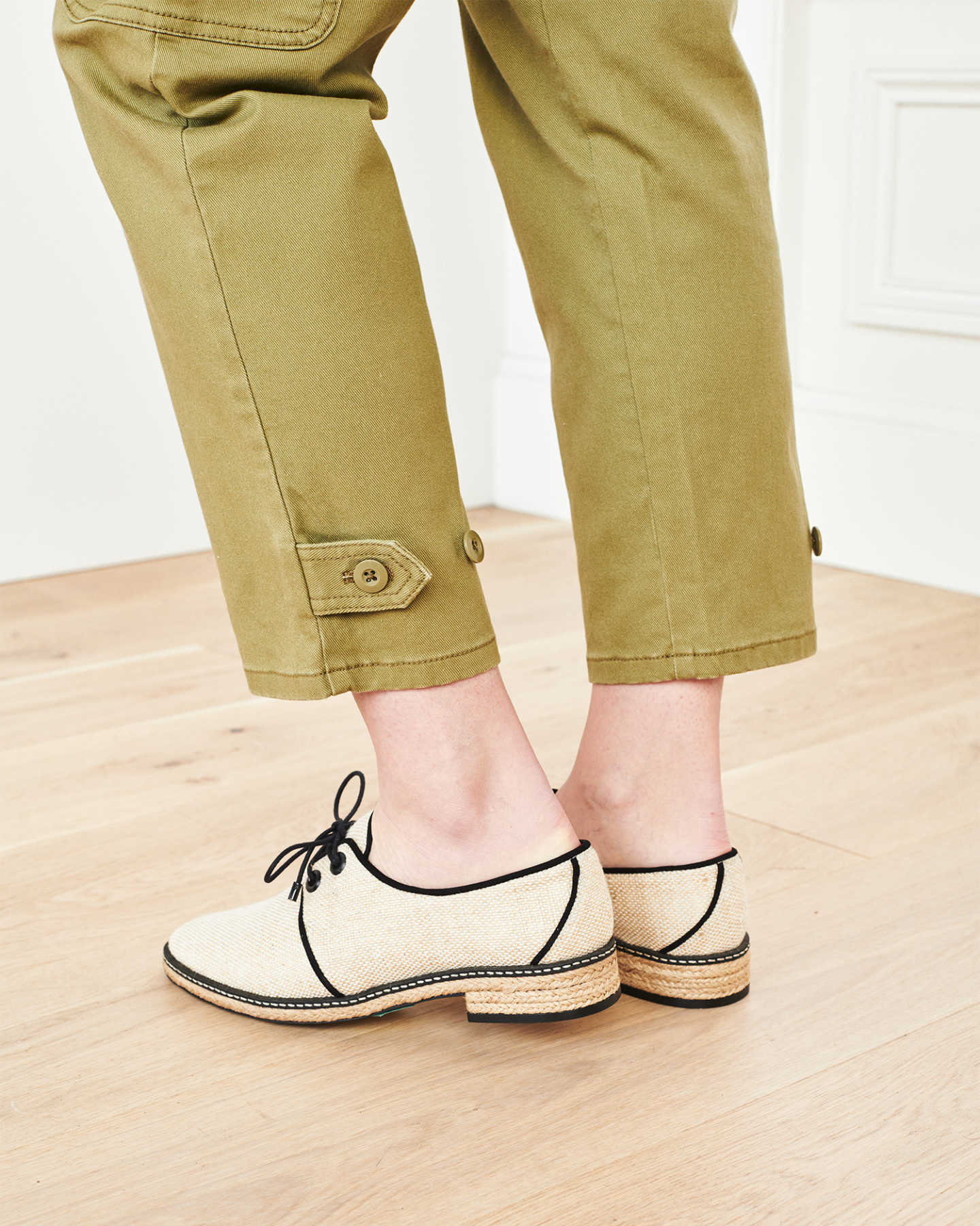 Stretch Cotton Twill Cargo Pant - Olive - 4
