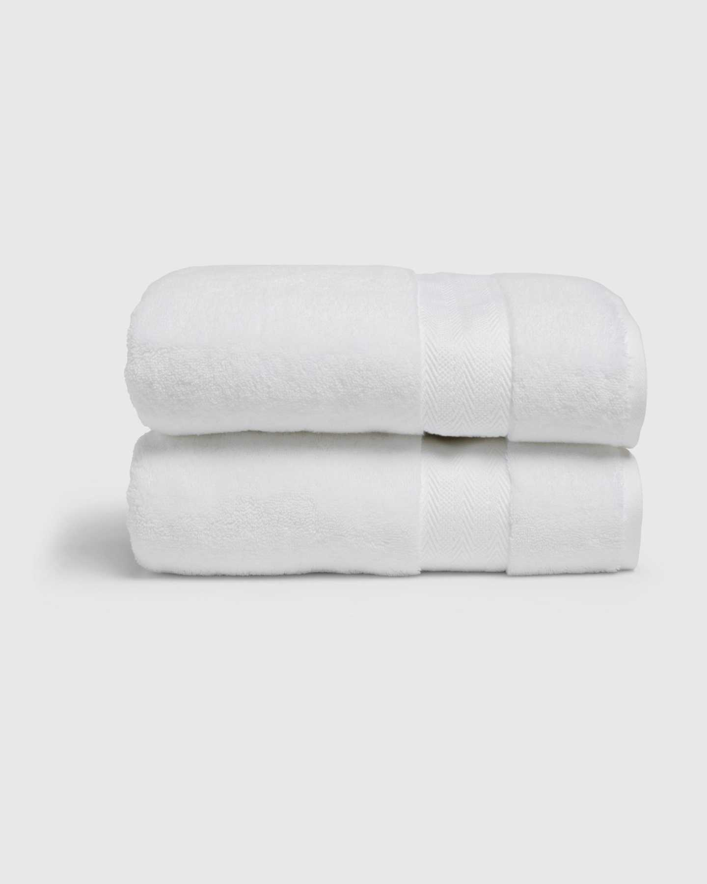Organic Turkish Spa Bath Towels (Set of 2) - White - 2