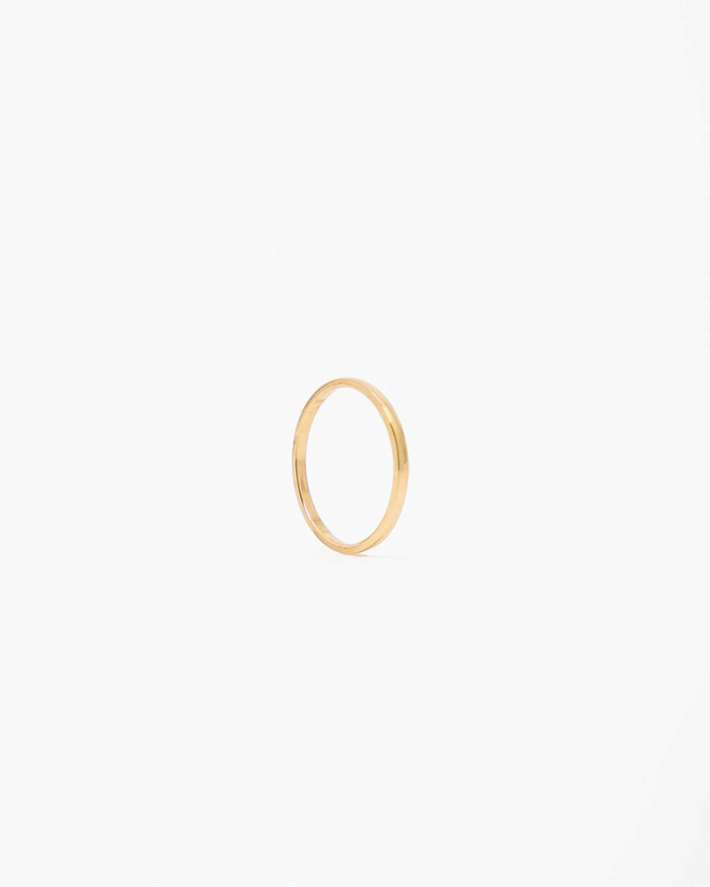 yellow gold stacking ring