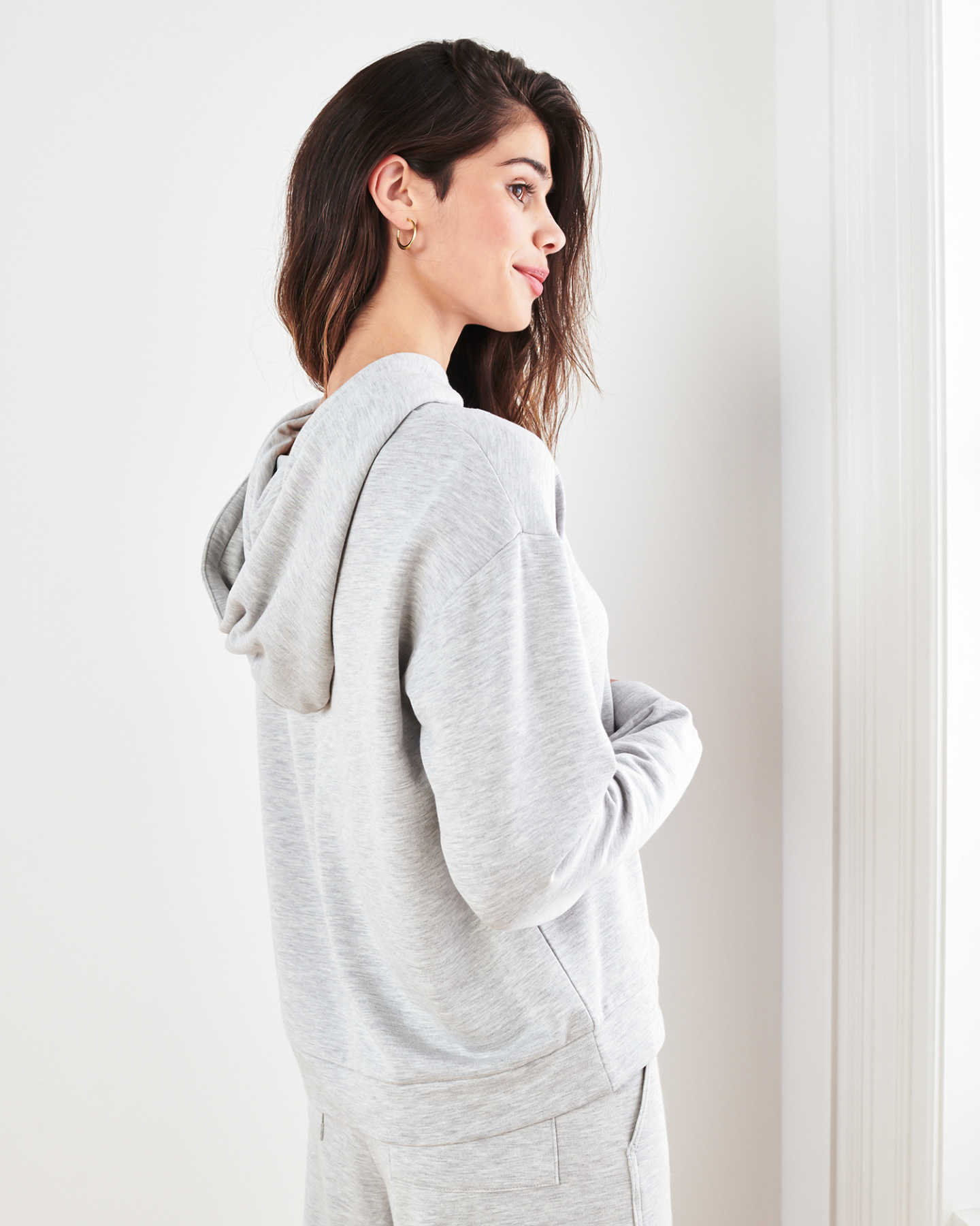 SuperSoft Fleece Pullover Hoodie - Heather Grey - 4