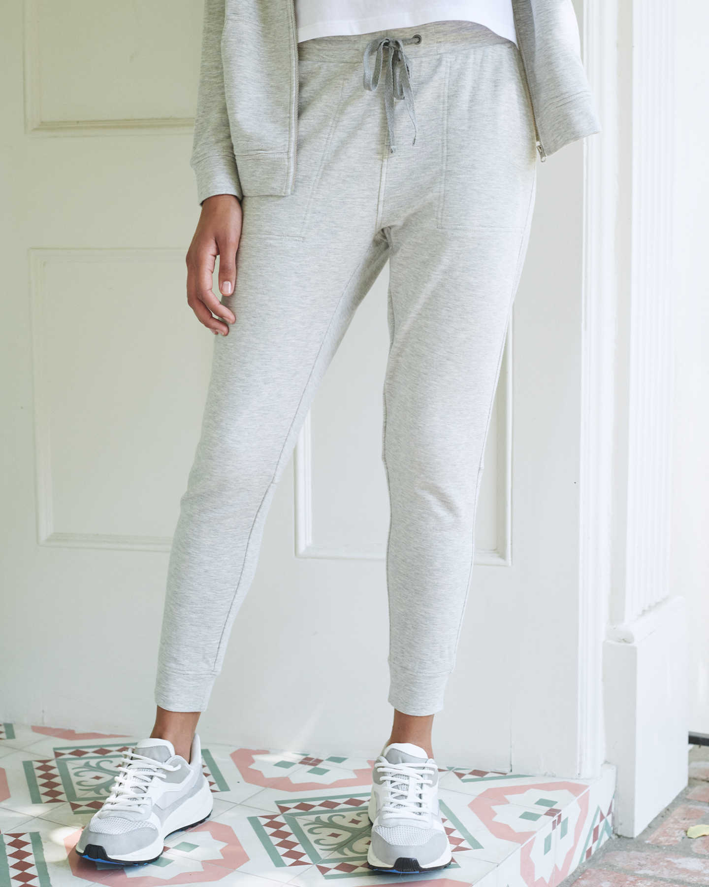 SuperSoft Fleece Pants - Heather Grey