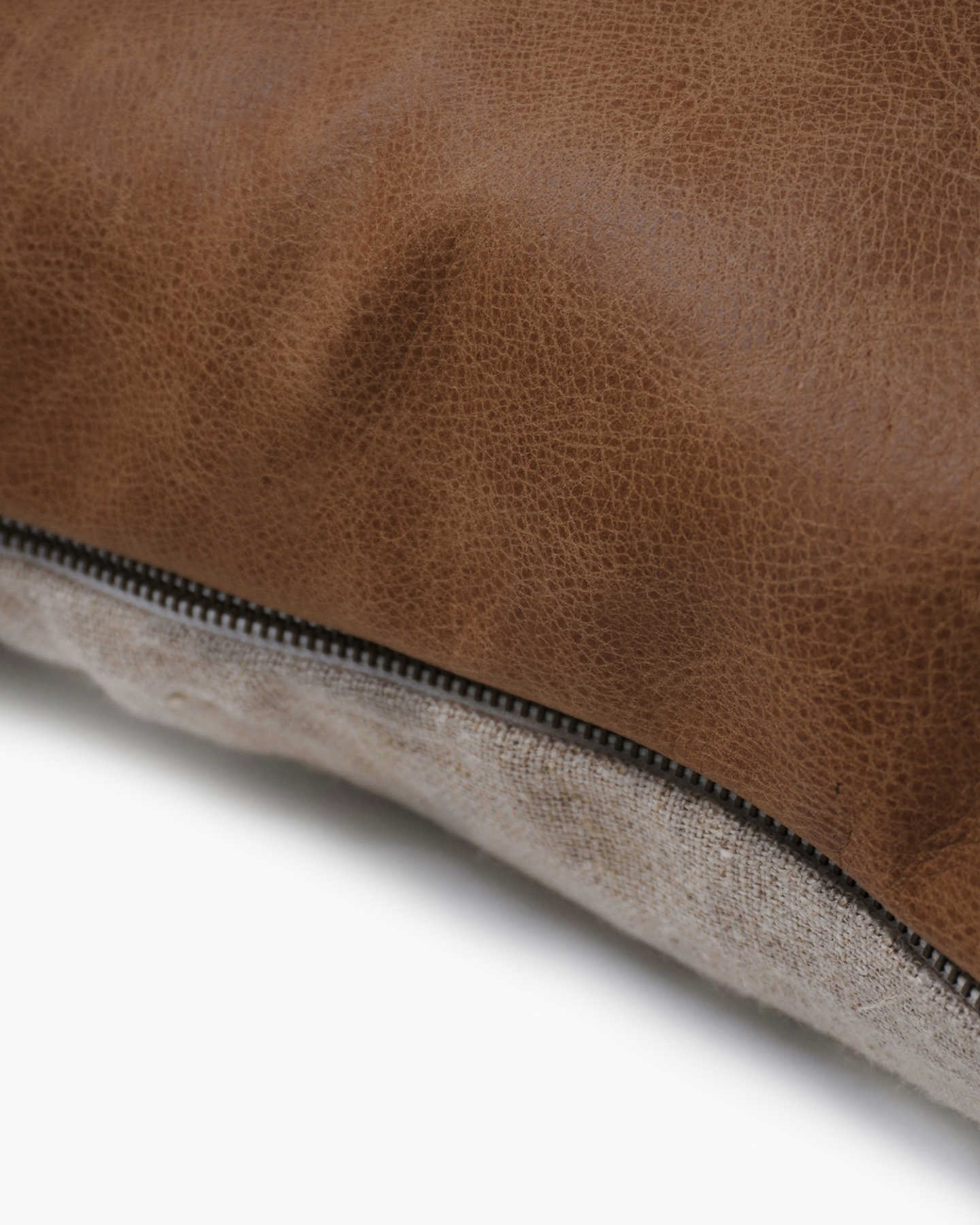 Luxe Leather Pillow Cover - Coco - 1