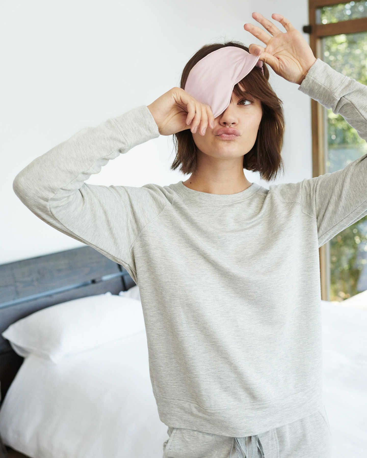 Mulberry Silk Beauty Sleep Mask - Blush Pink