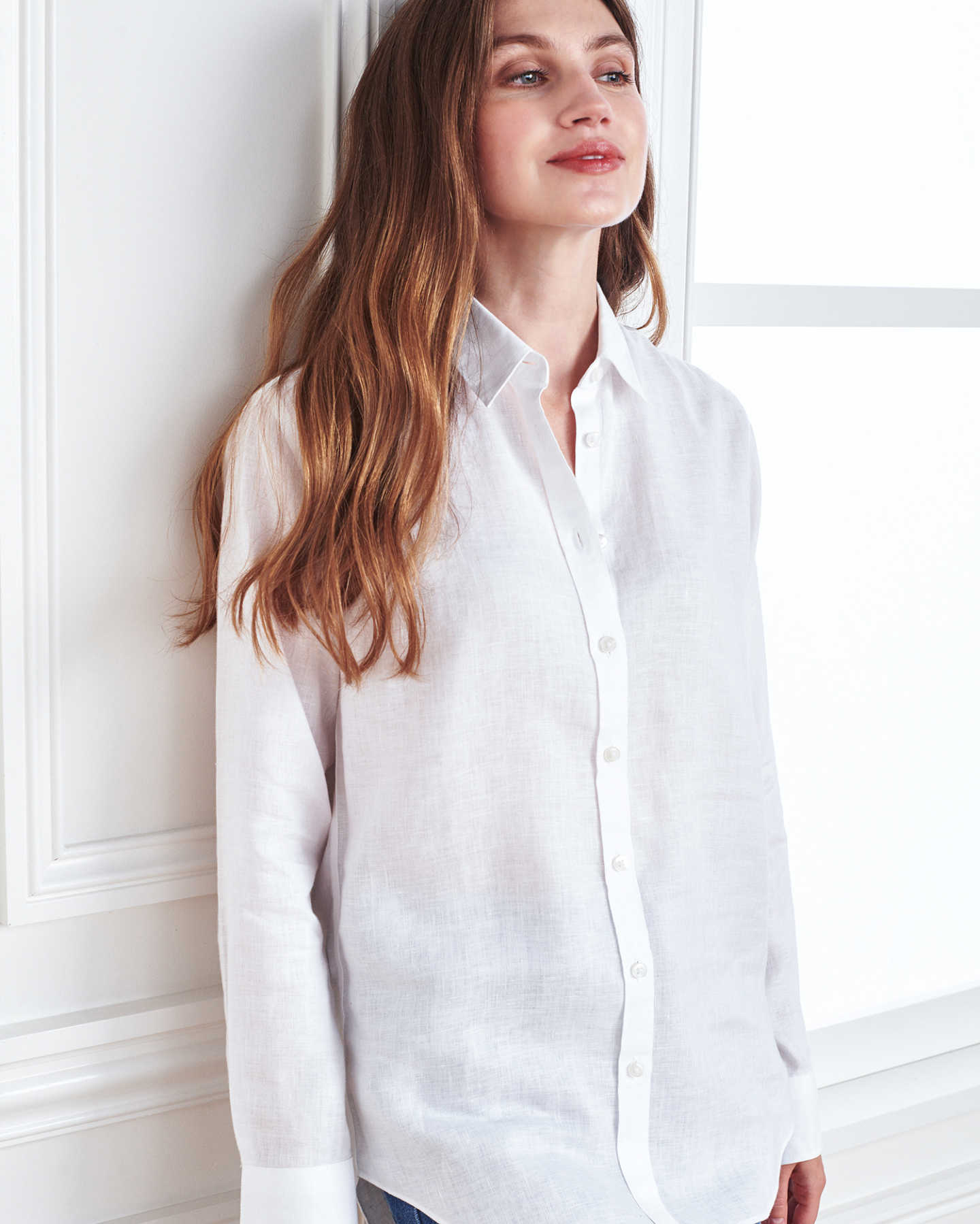 linen shirt women white 5