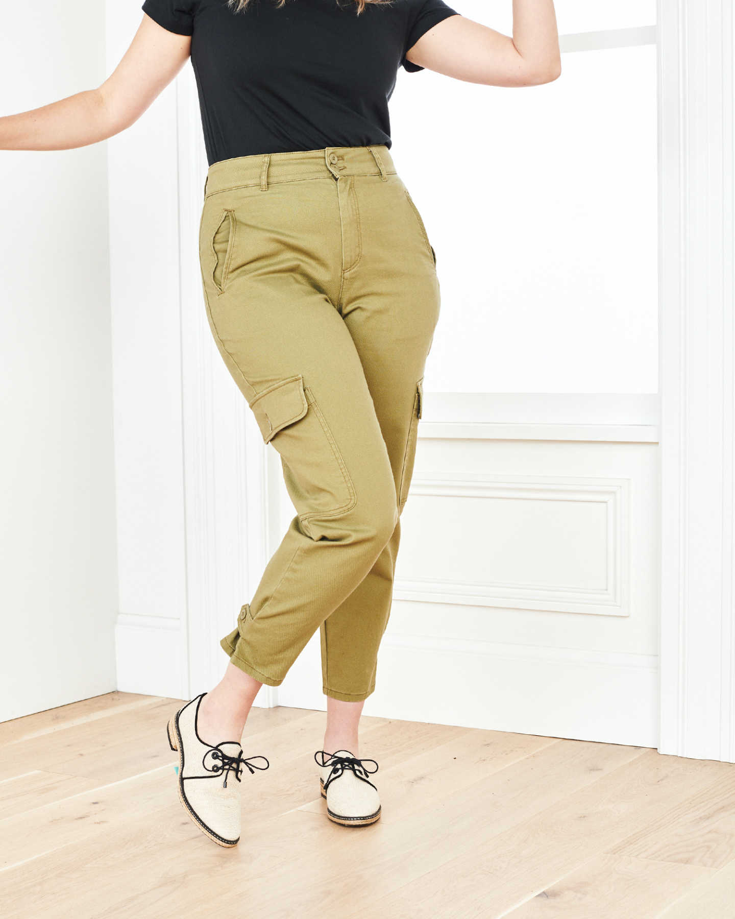 Stretch Cotton Twill Cargo Pant - Olive - 8