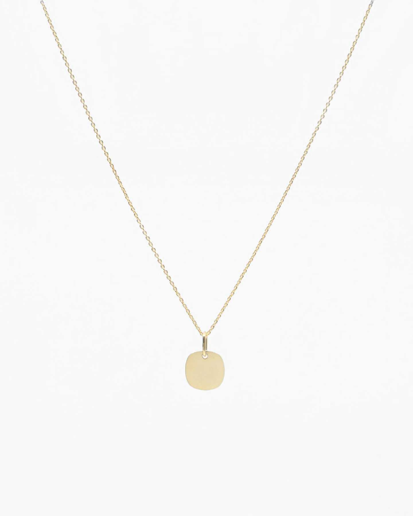 Gold Disc Necklace - Gold Vermeil - 0