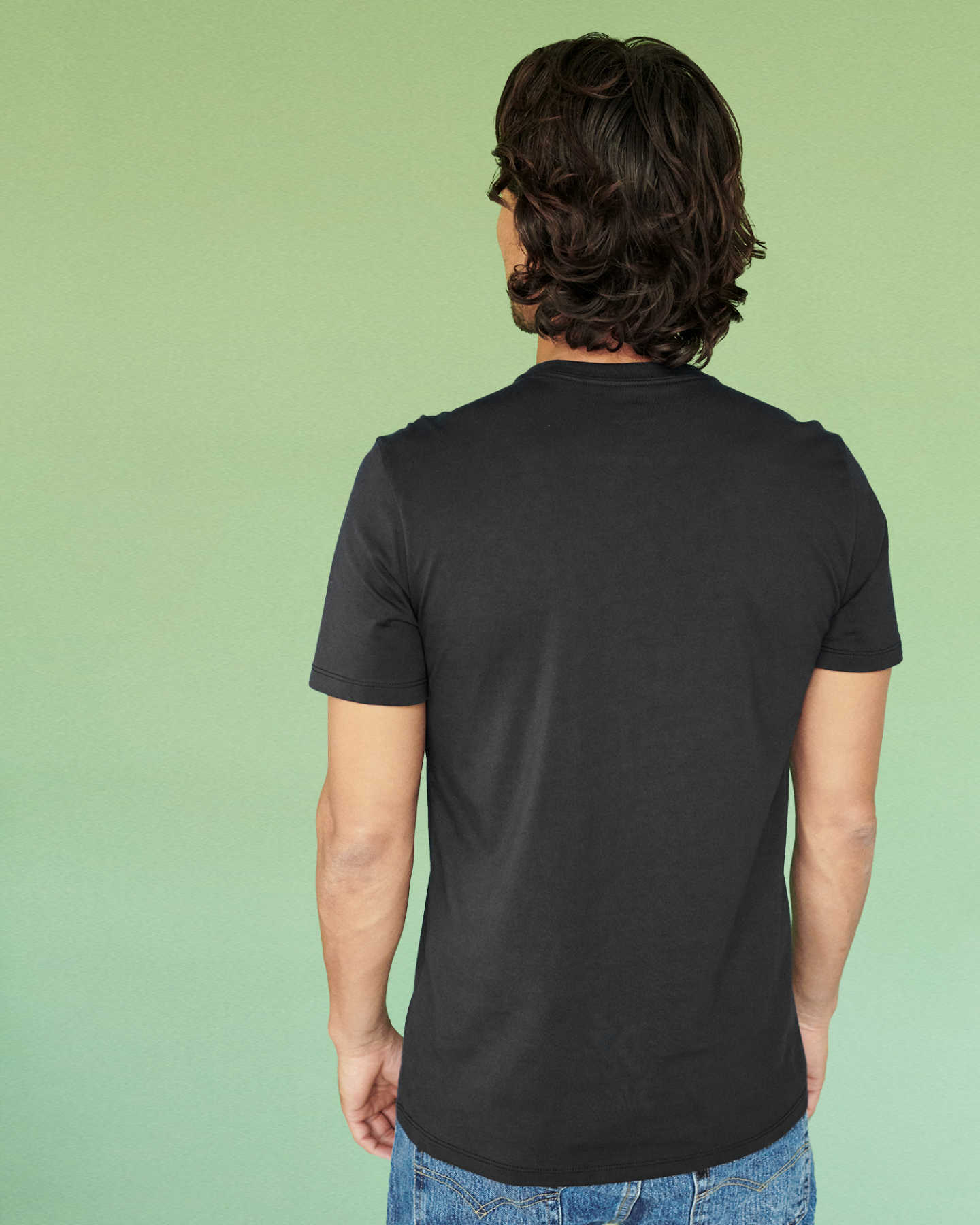 Luxe Organic Pima Pocket Tee - Black - 4