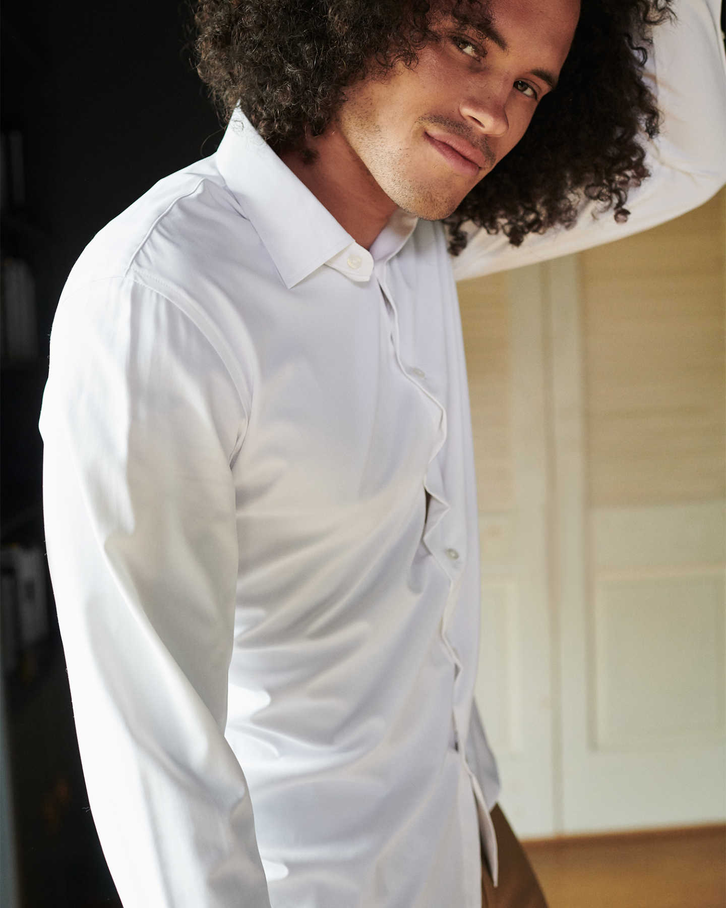 Recycled Performance Dress Shirt - White - 1