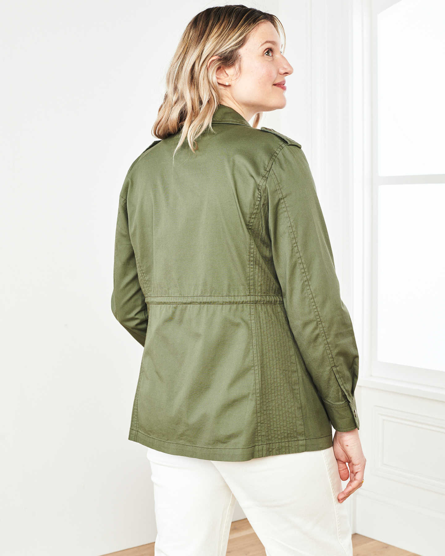 Cotton Twill Utility Jacket - Olive - 7