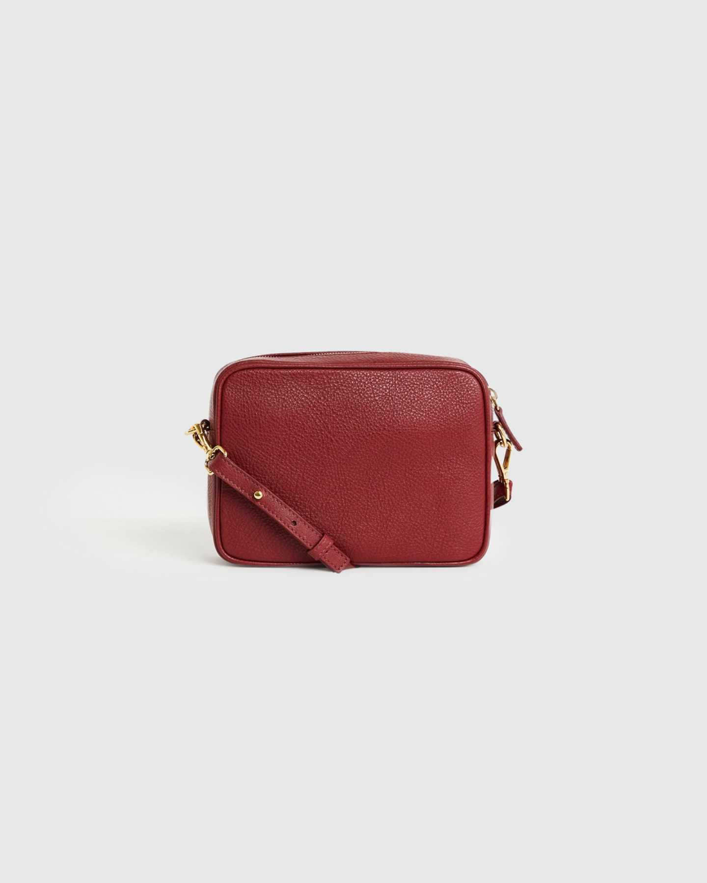 Pair With - Italian Leather Crossbody Bag - Burgundy