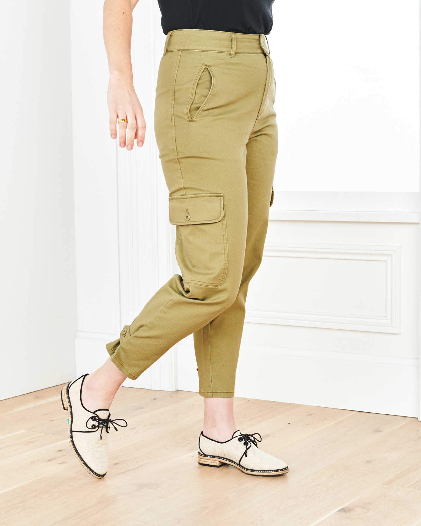 Stretch Cotton Twill Cargo Pant - Olive - 2