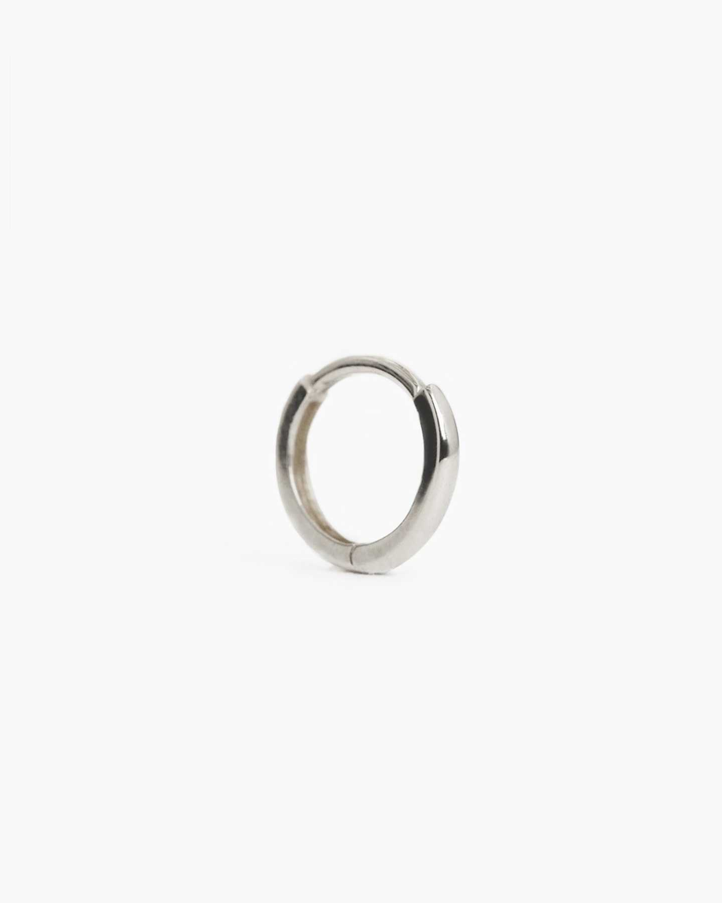 14k Gold Solo Mini Hoop - White Gold - 0
