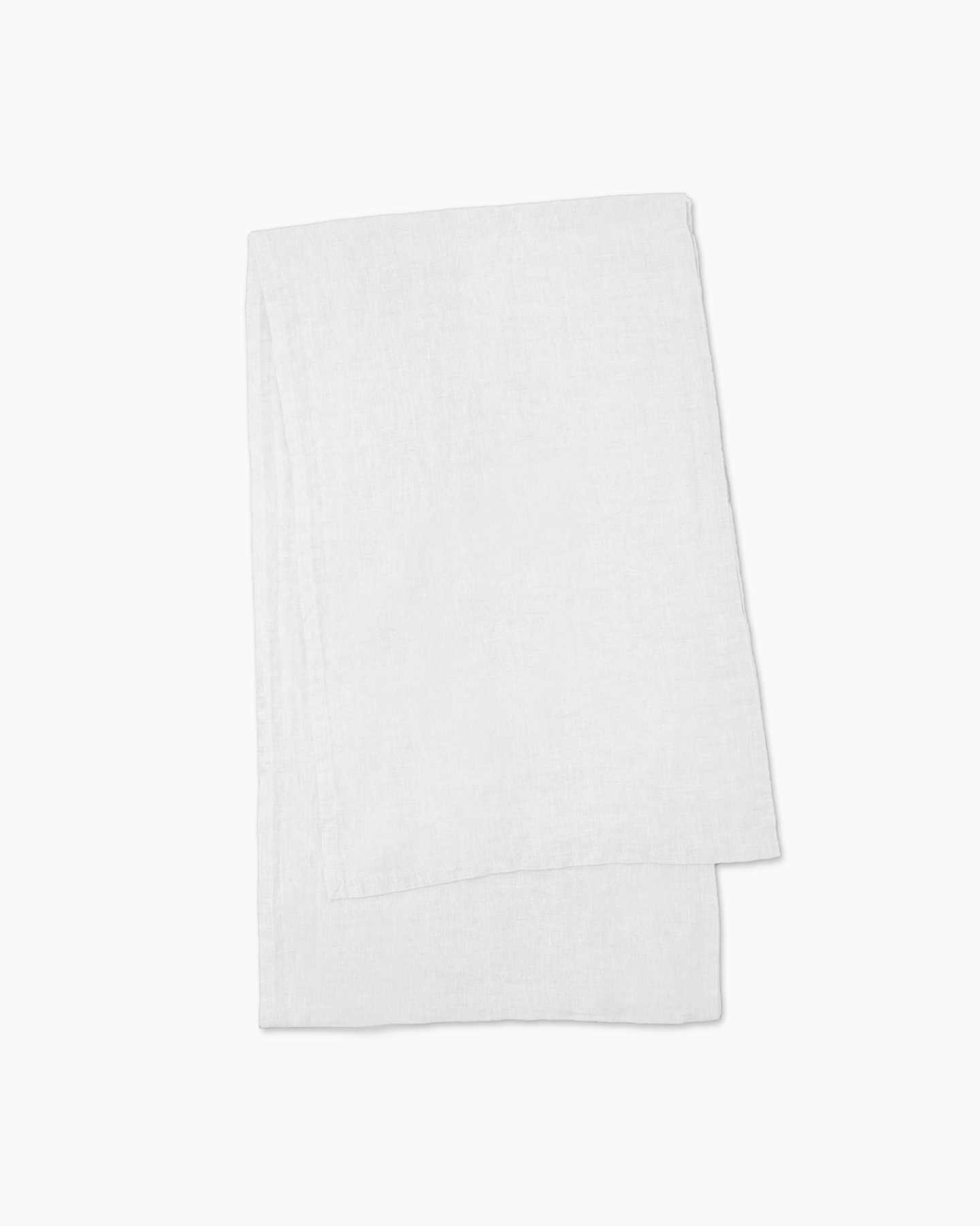 Belgian Linen Table Runner - White - 3