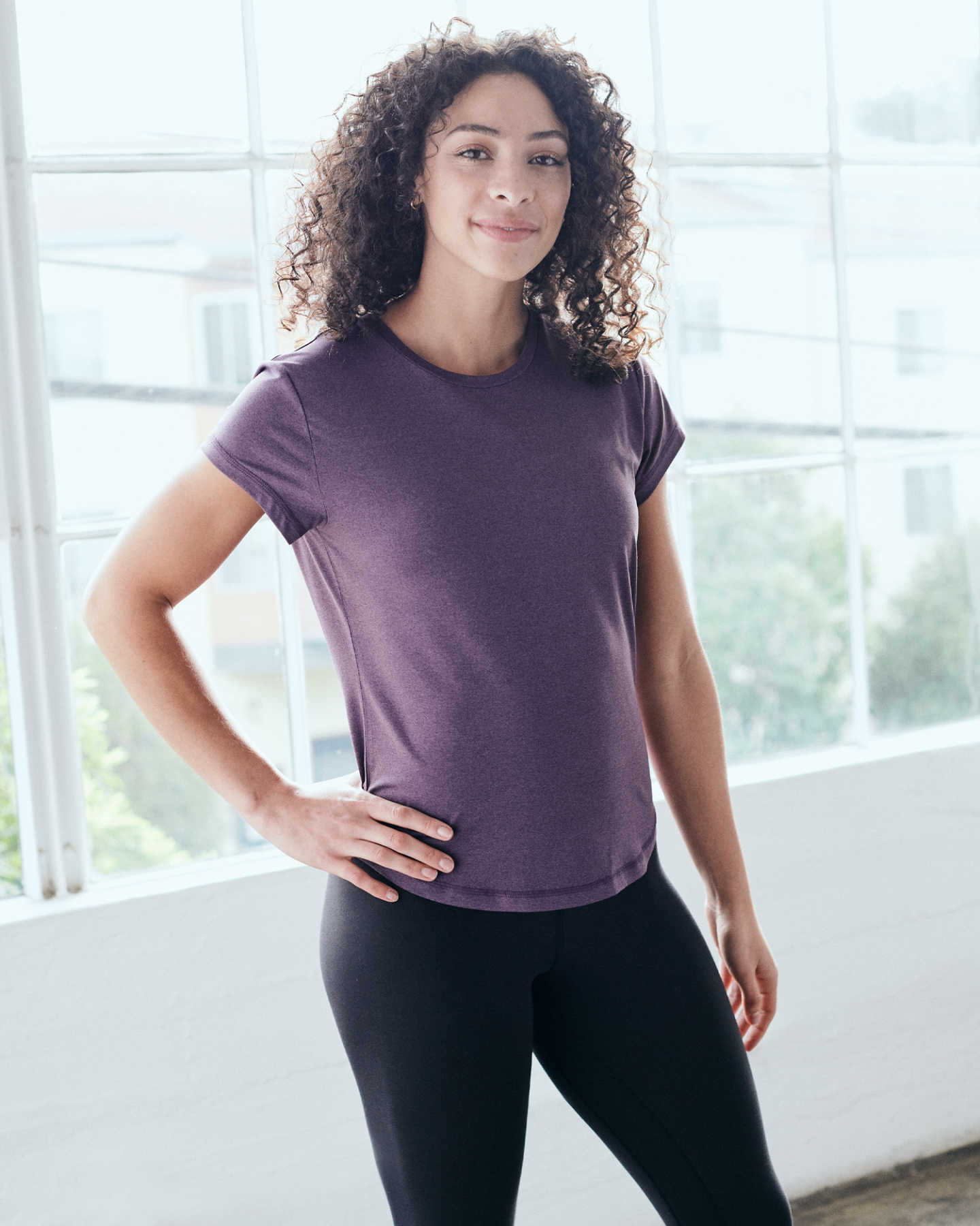 Pair With - Flowknit Ultra-Soft Performance Tee - Royal Purple