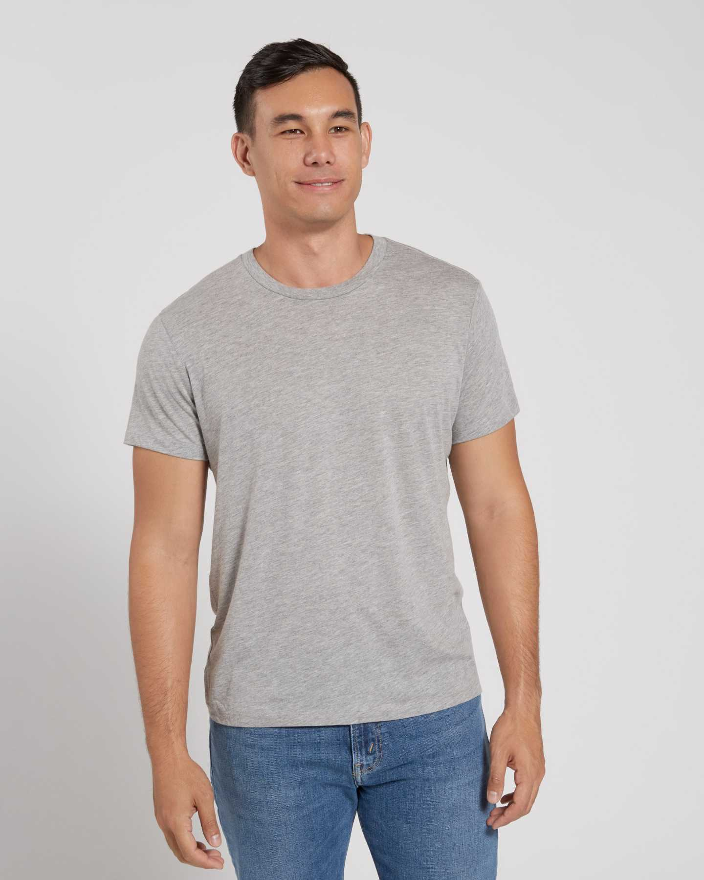 Pair With - Perfect Cotton Tee - Heather Grey
