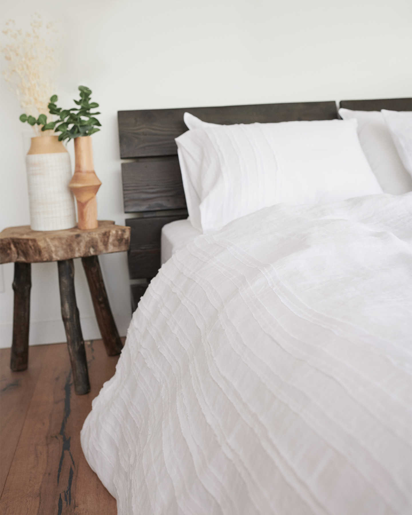 French Linen Duvet Cover Set - Rouching - 4