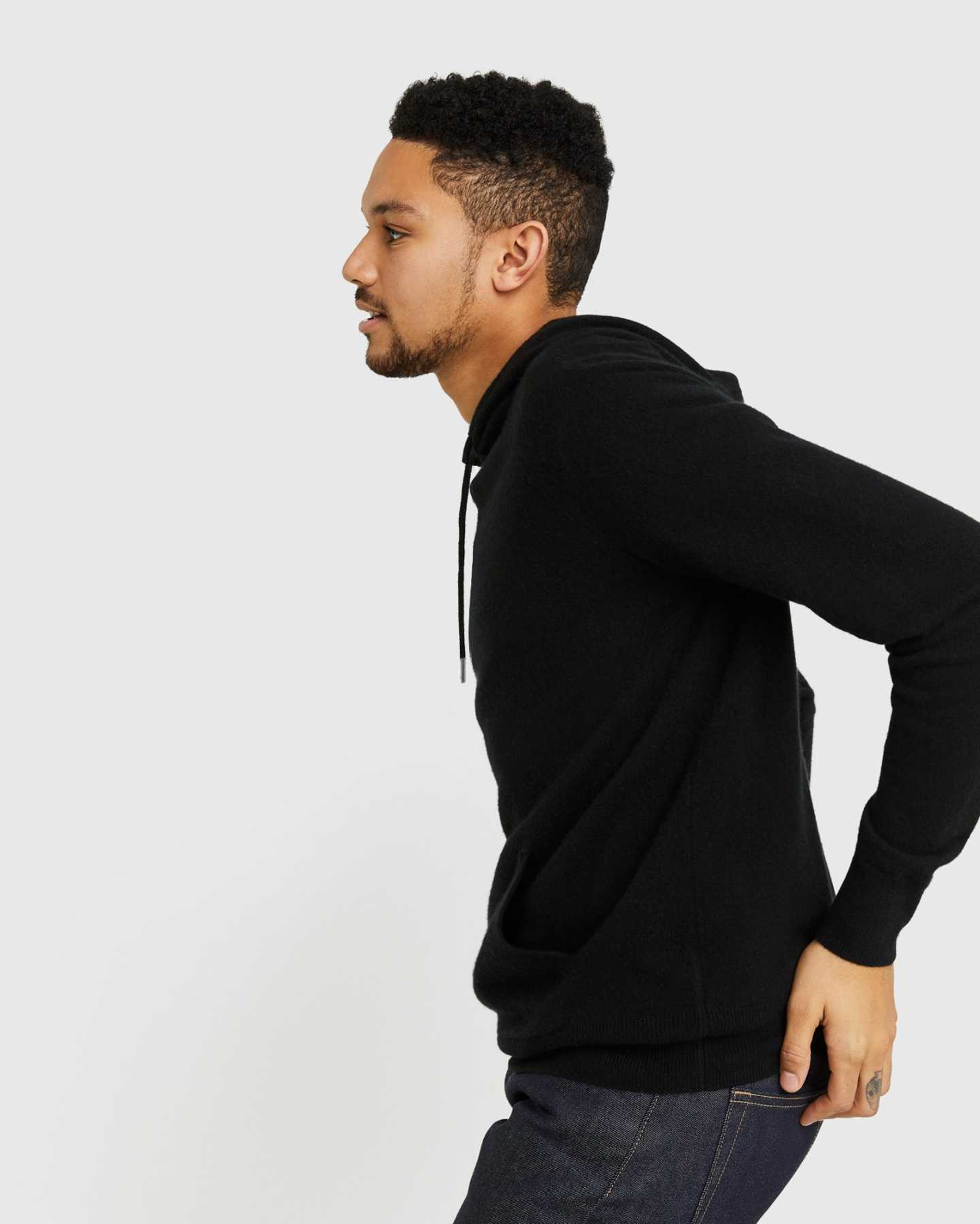 Mongolian Cashmere Pullover Hoodie - undefined - 4