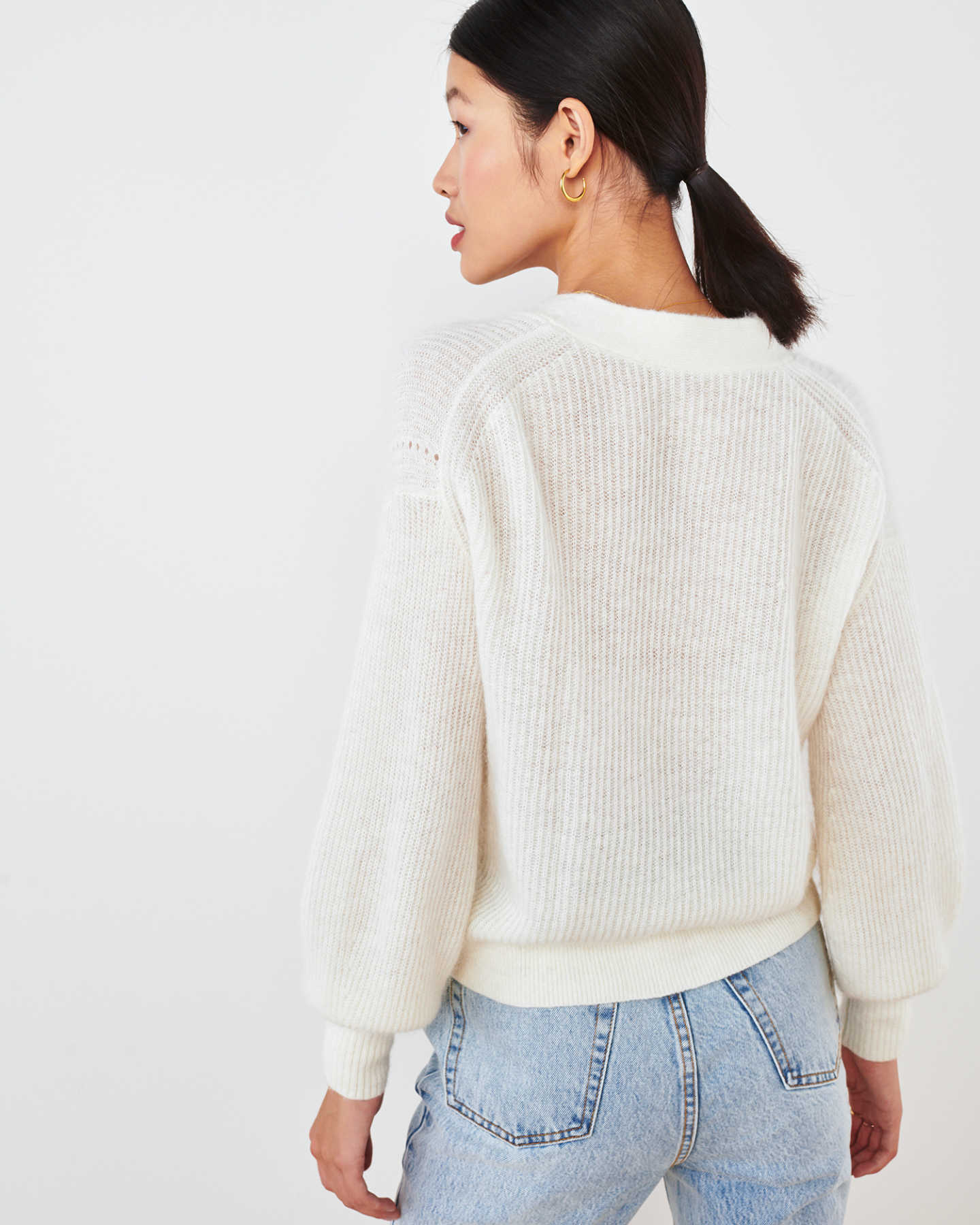 Superfine Alpaca Cropped Cardigan  - undefined - 4