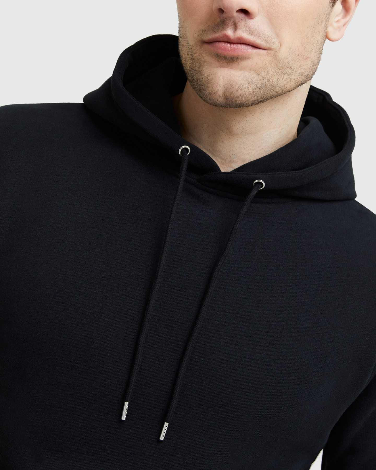 Heavyweight Organic Fleece Hoodie - Black - 8