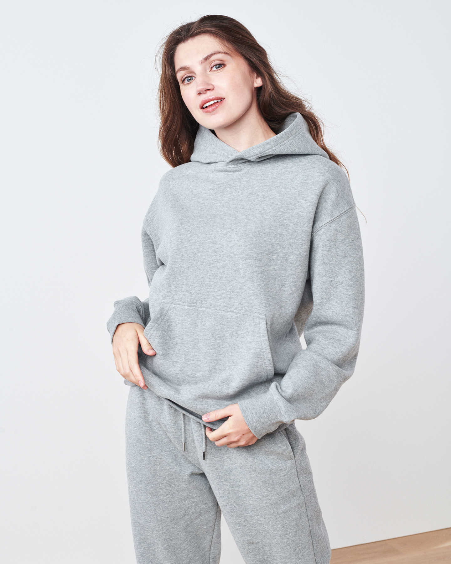 Organic Heavyweight Boyfriend Hoodie - Heather Grey - 0