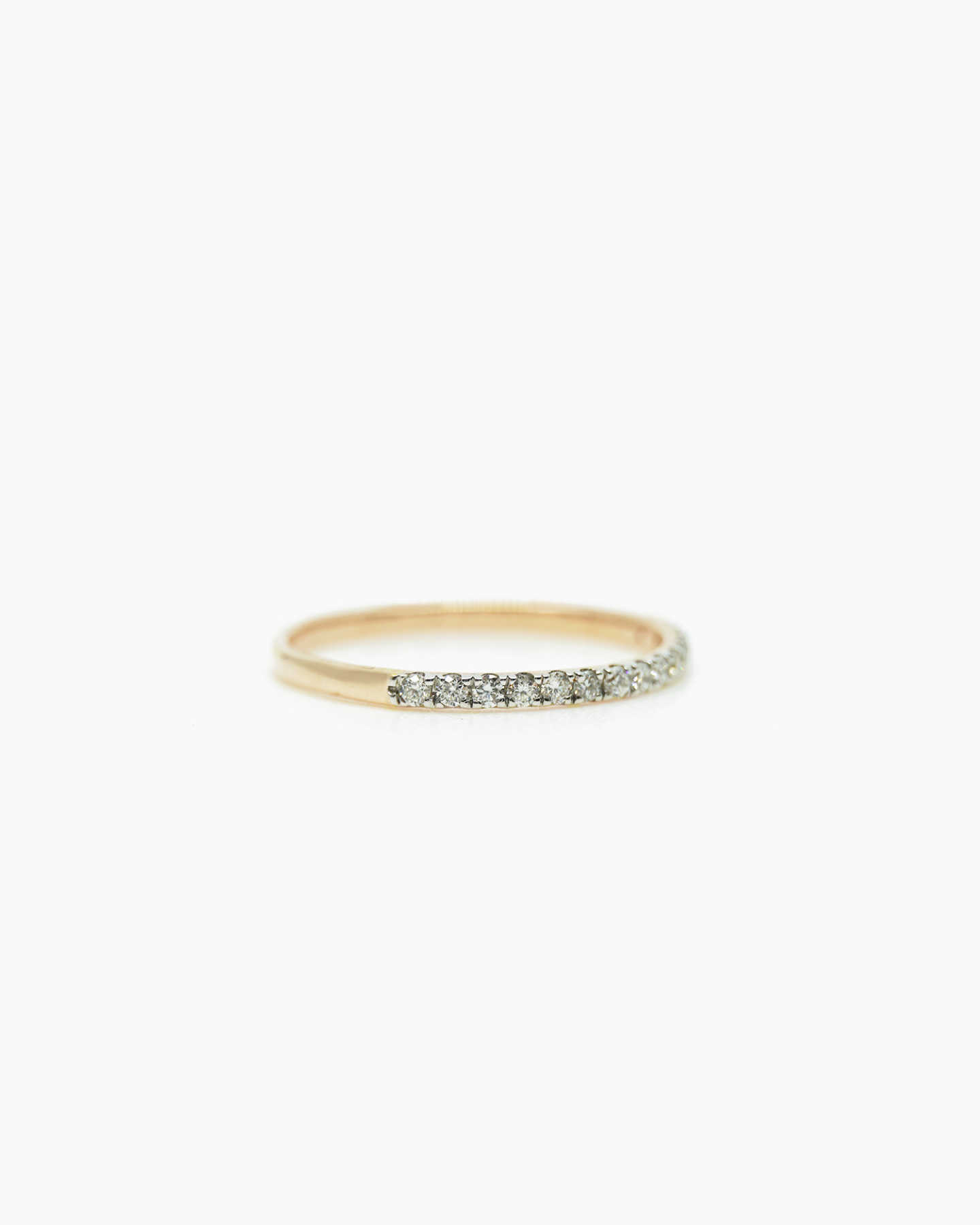 Diamond Wedding Band - Yellow Gold - 1