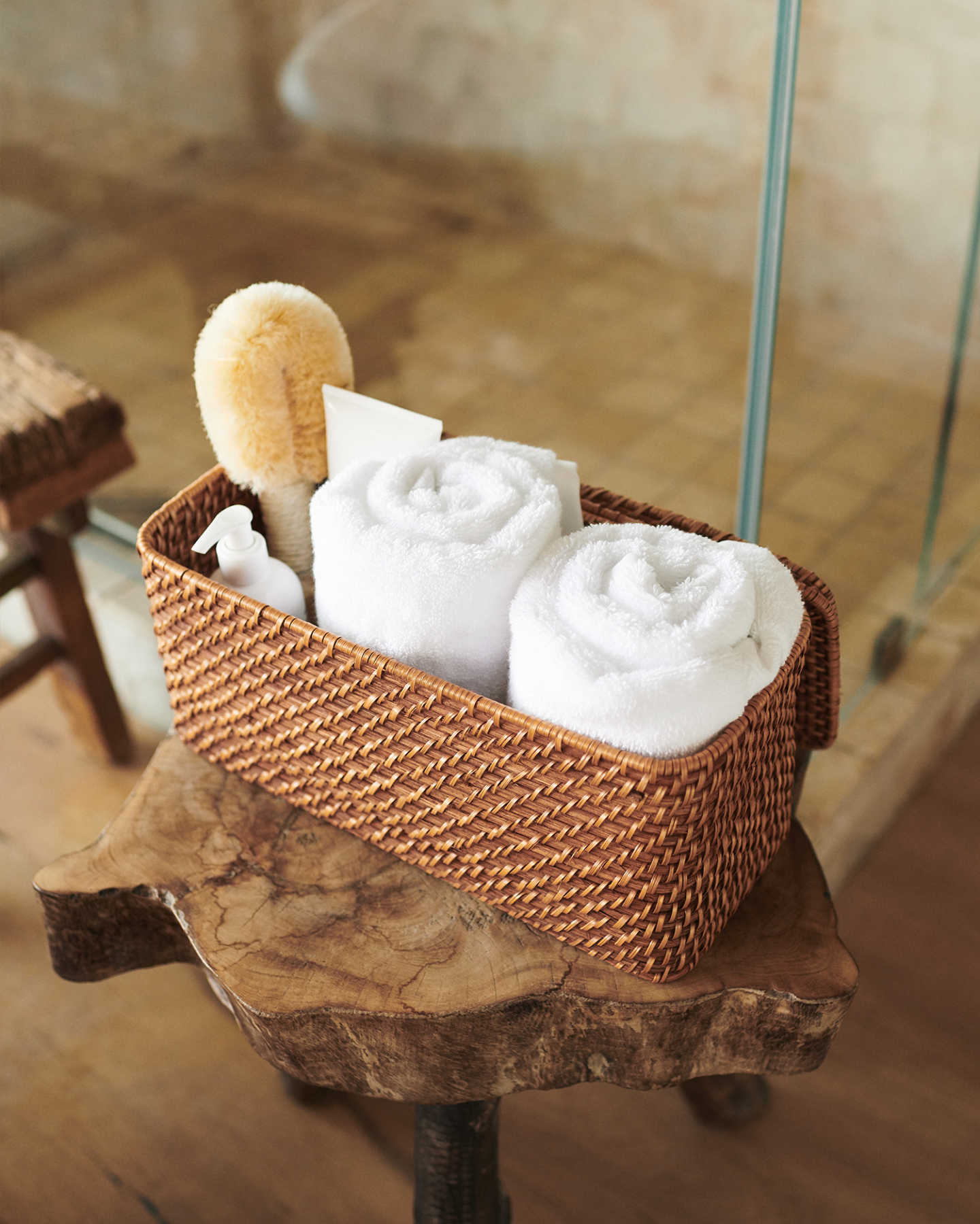 Organic Turkish Spa Bath Towels (Set of 2) - White - 1