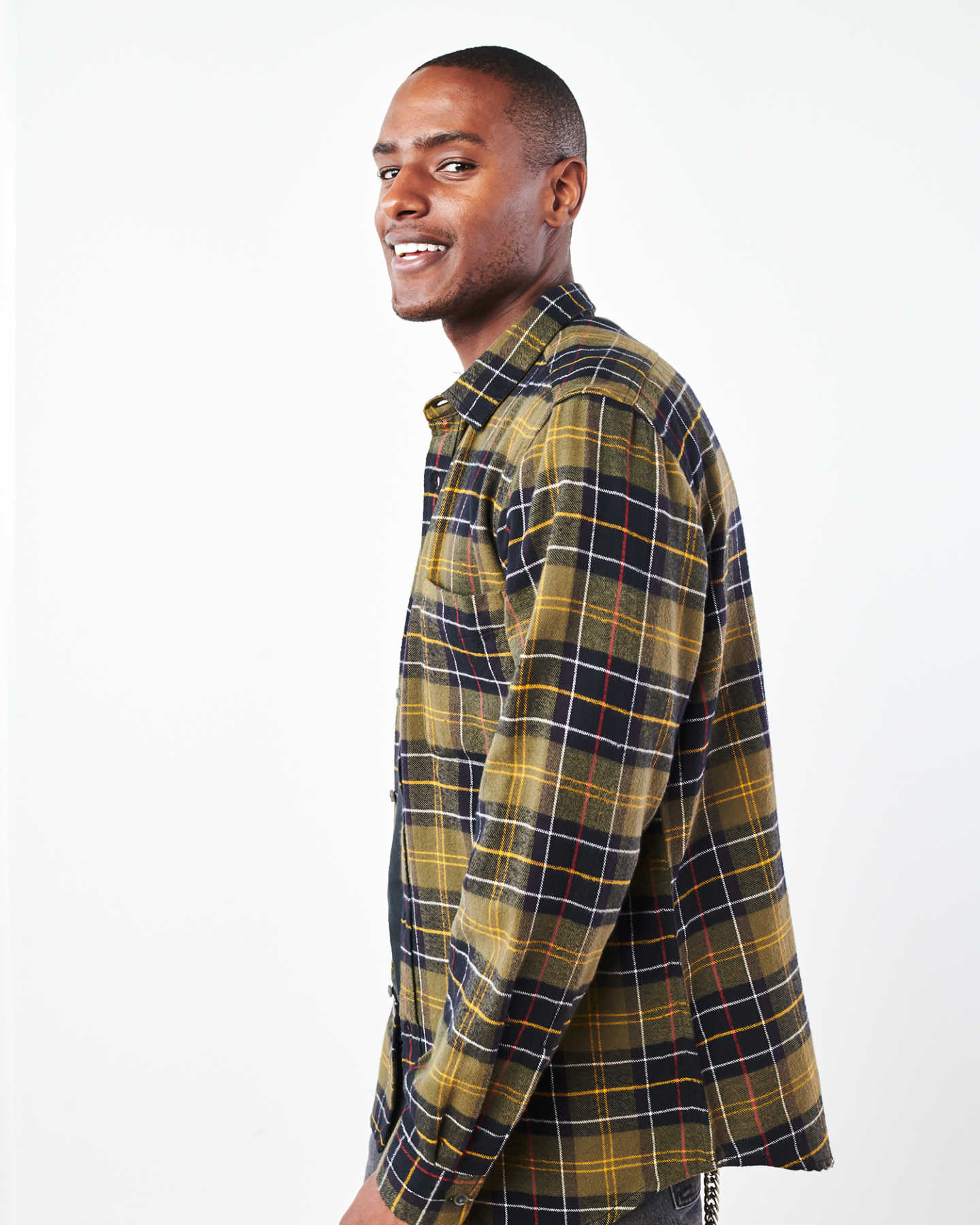 Soft Brushed Plaid Flannel Shirt - undefined - 3