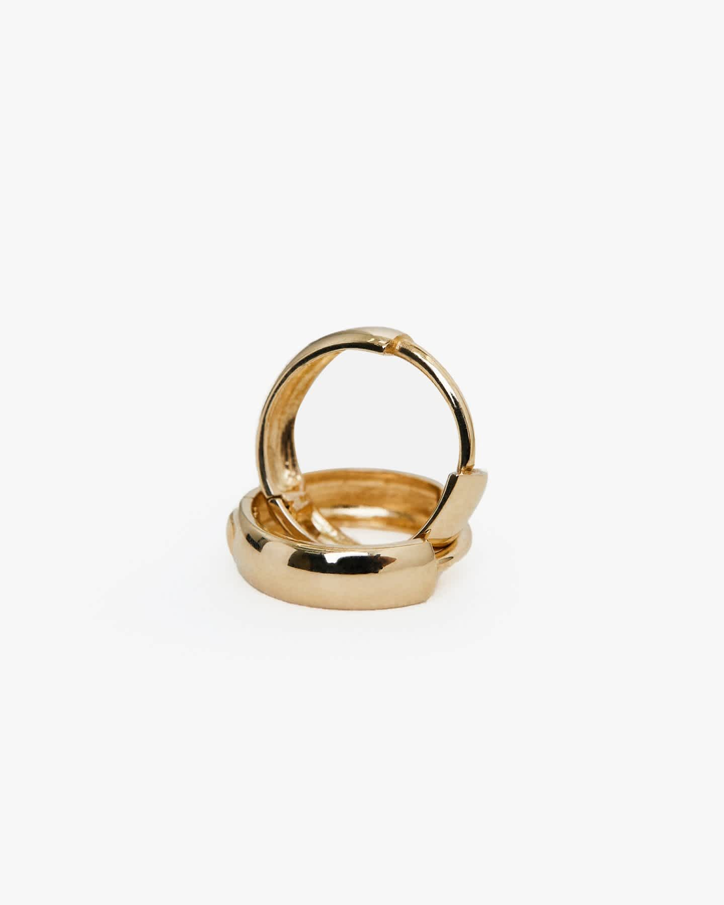 Pair With - Bold 14k Gold Hoops - Yellow Gold
