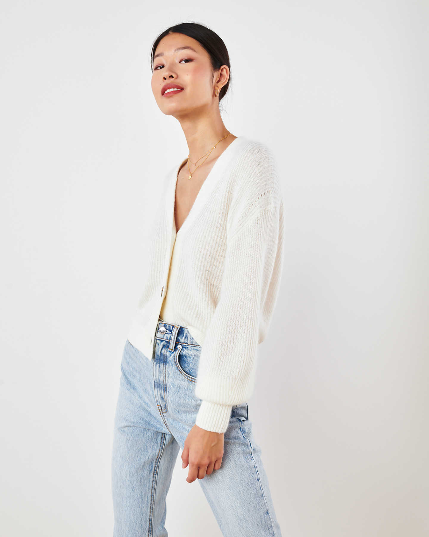 Superfine Alpaca Cropped Cardigan  - undefined - 2
