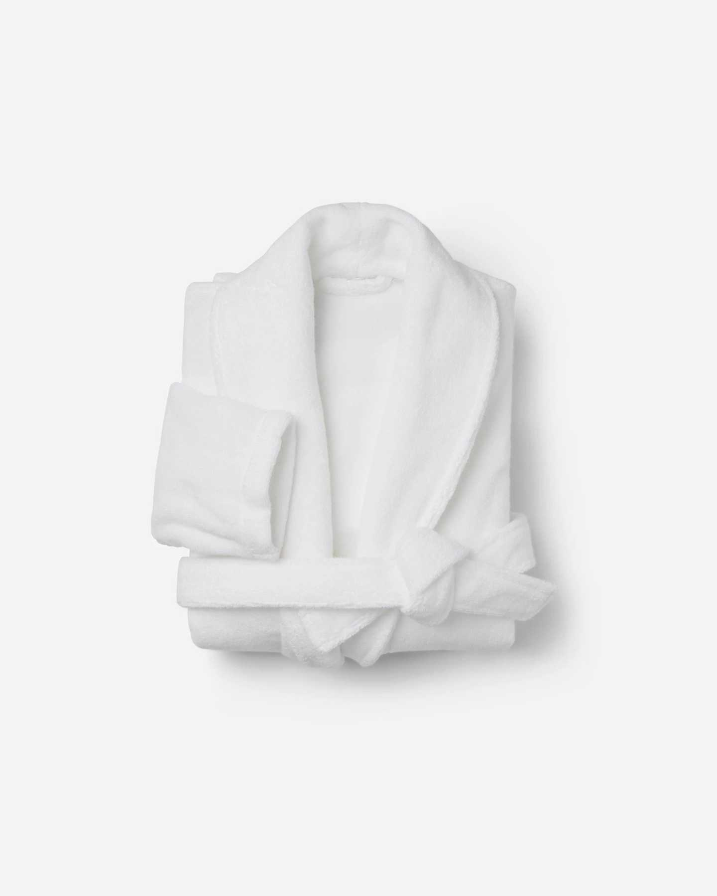 Luxe Turkish Cotton Bath Robe - White