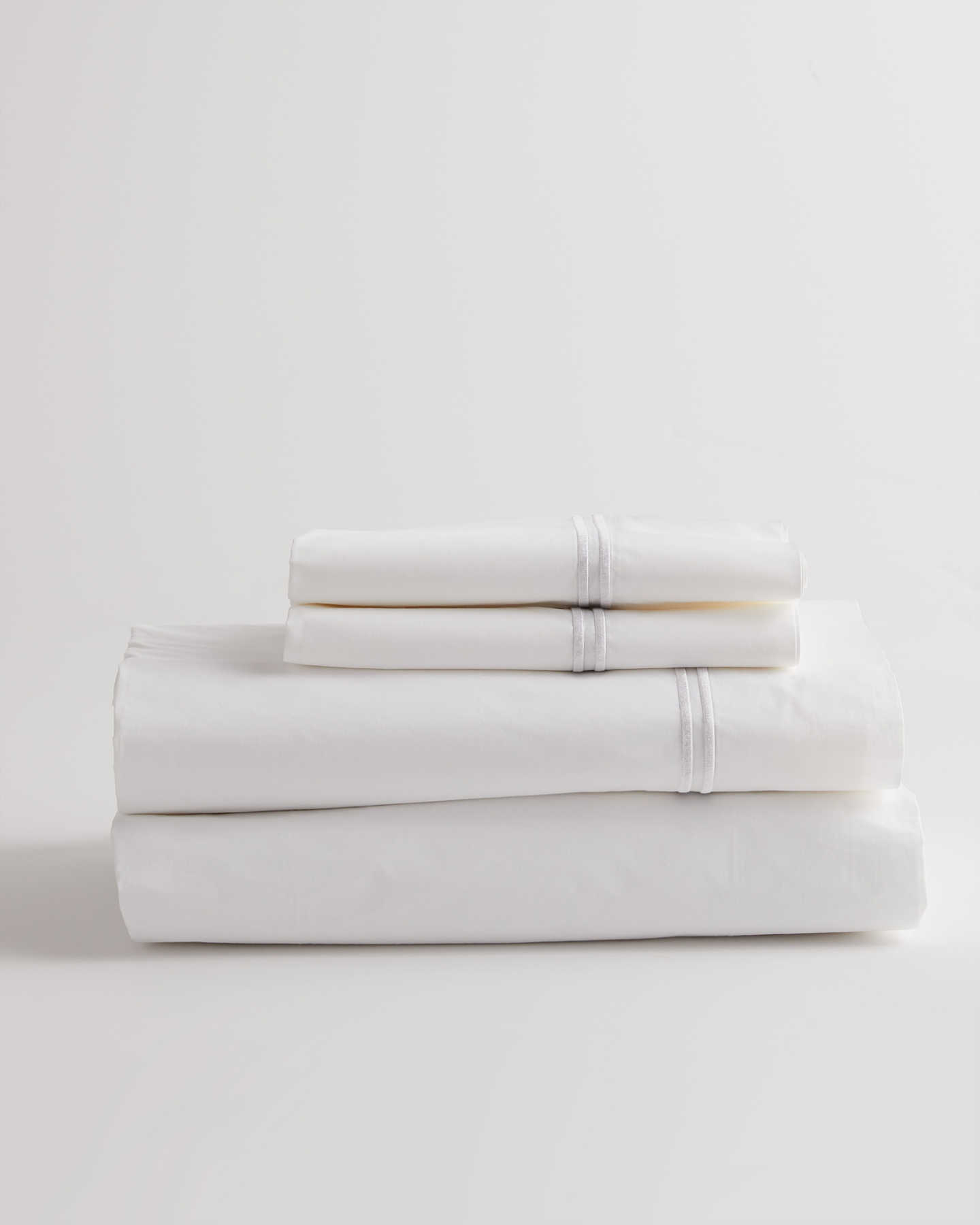 Luxe Italian Cotton Hotel Sheet Set - White