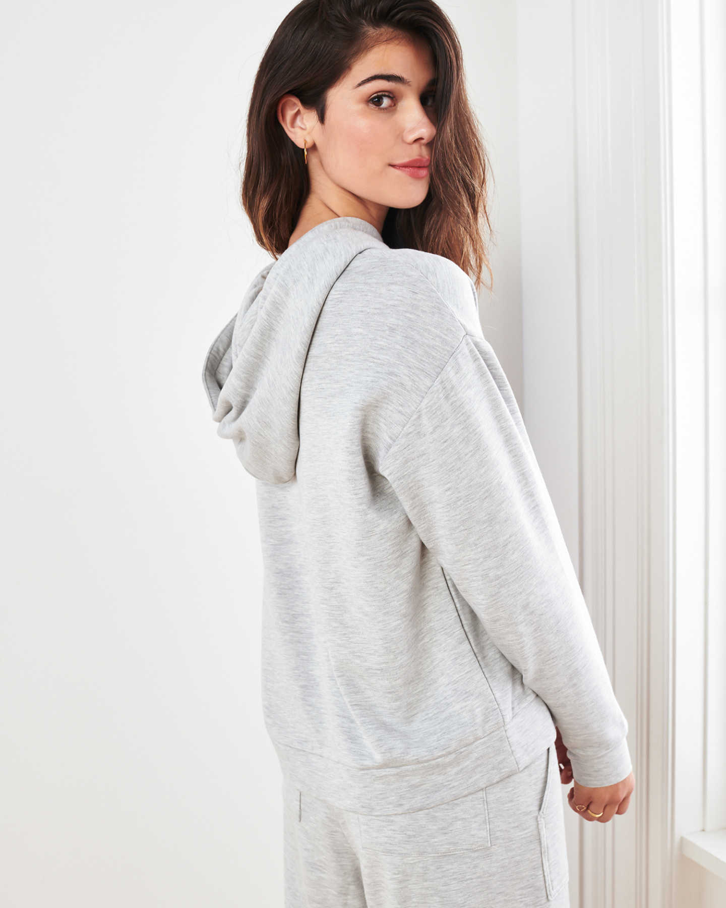 SuperSoft Fleece Pullover Hoodie - Heather Grey - 7