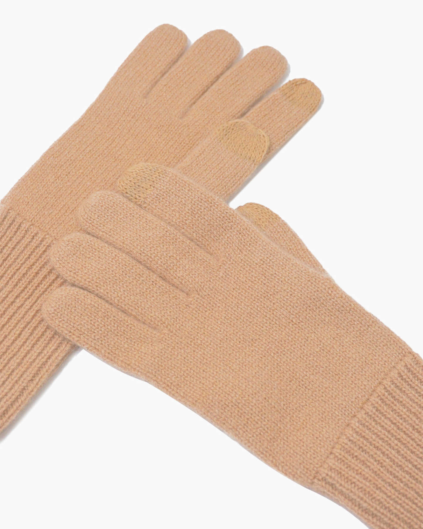 Mongolian Cashmere Gloves - Camel - 1
