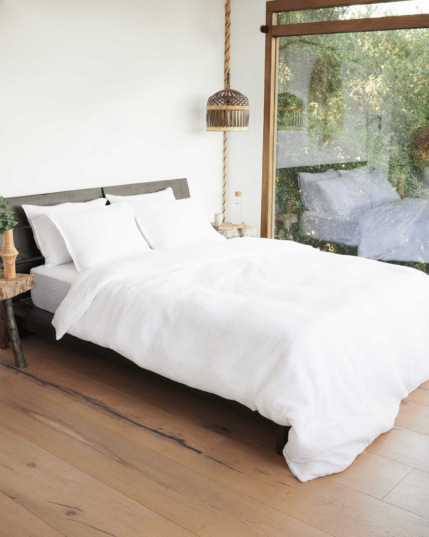 French Linen Duvet Cover Set - Rouching - 5